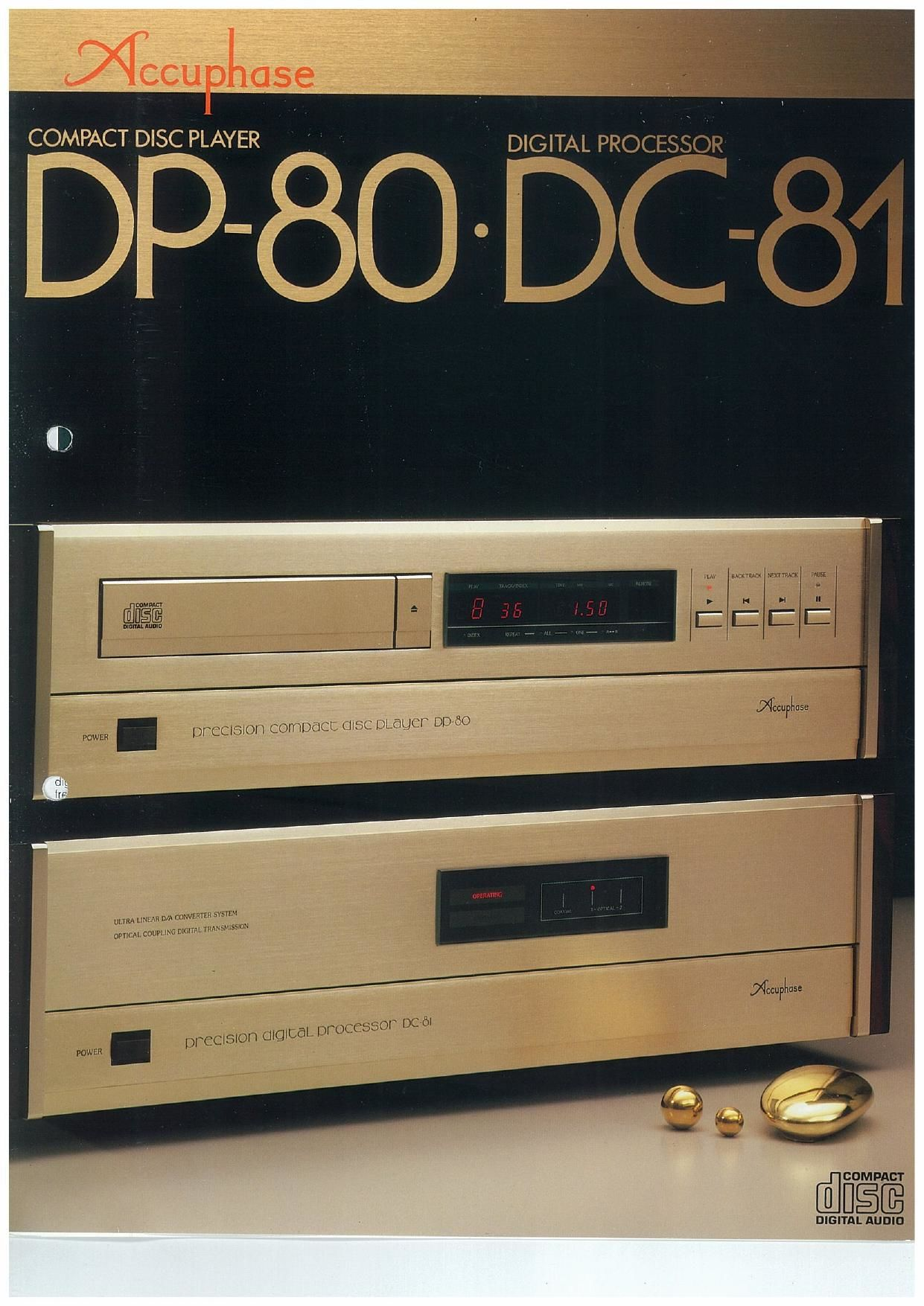 Accuphase DP 80 Brochure