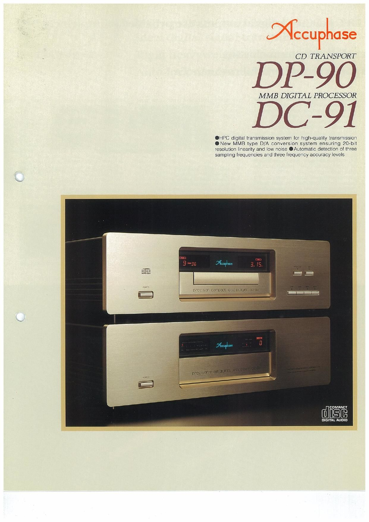 Accuphase DP 90 Brochure