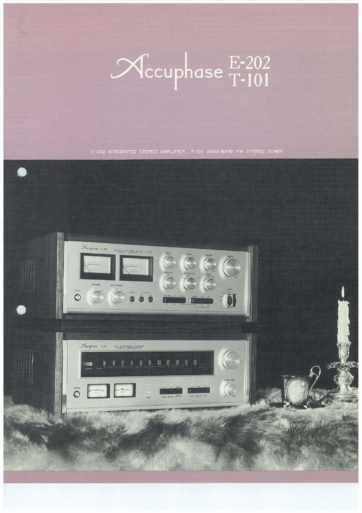 Accuphase E 202 Brochure