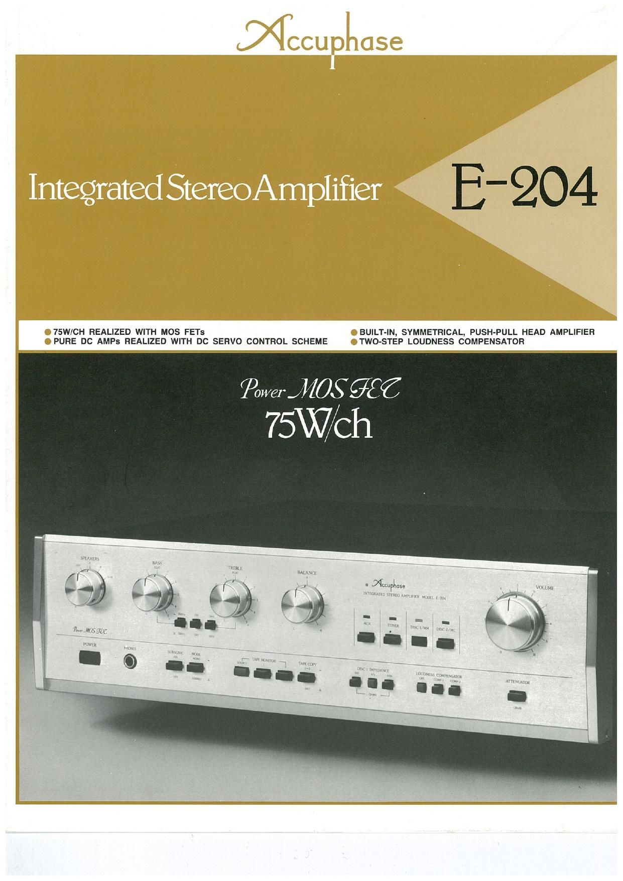 Accuphase E 204 Brochure