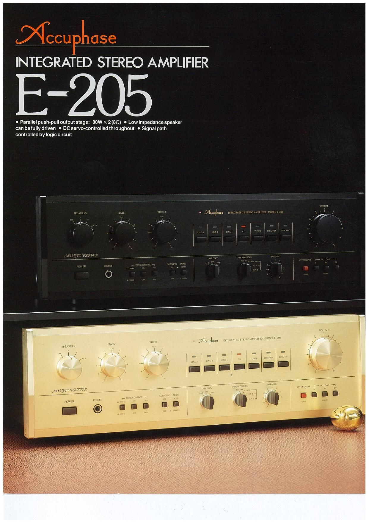 Accuphase E 205 Brochure