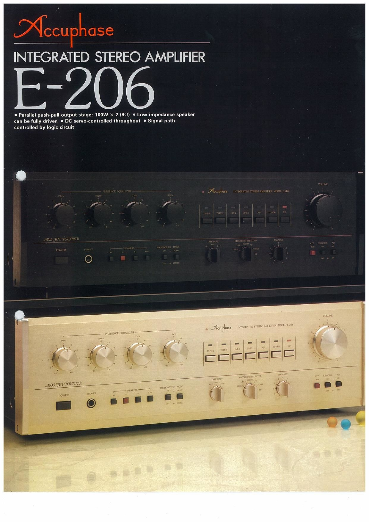 Accuphase E 206 Brochure