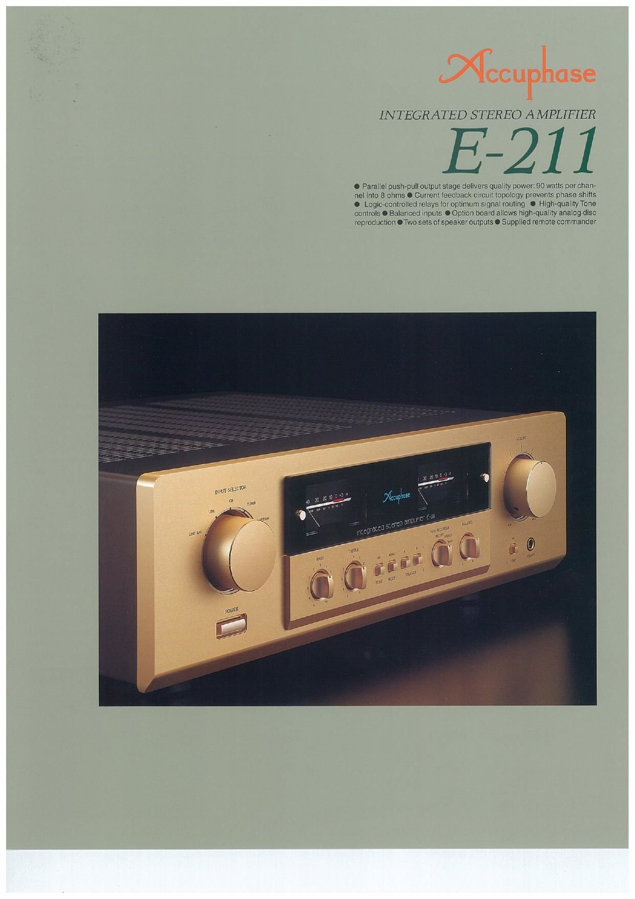 Accuphase E 211 Brochure
