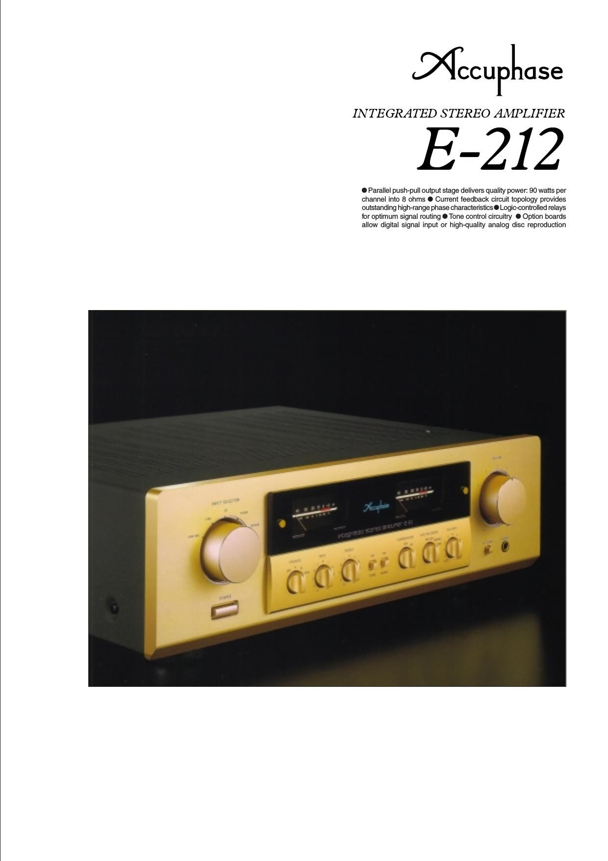 Accuphase E 212 Brochure