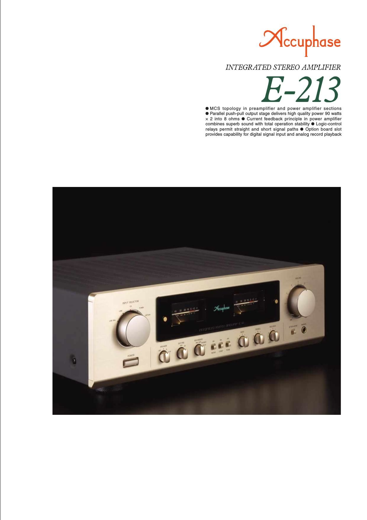 Accuphase E 213 Brochure