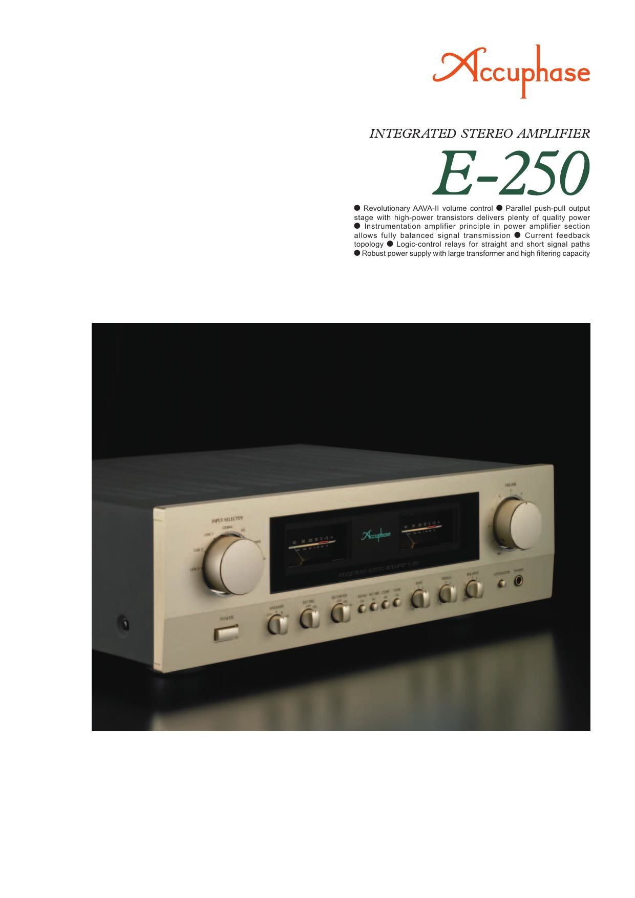 Accuphase E 250 Brochure