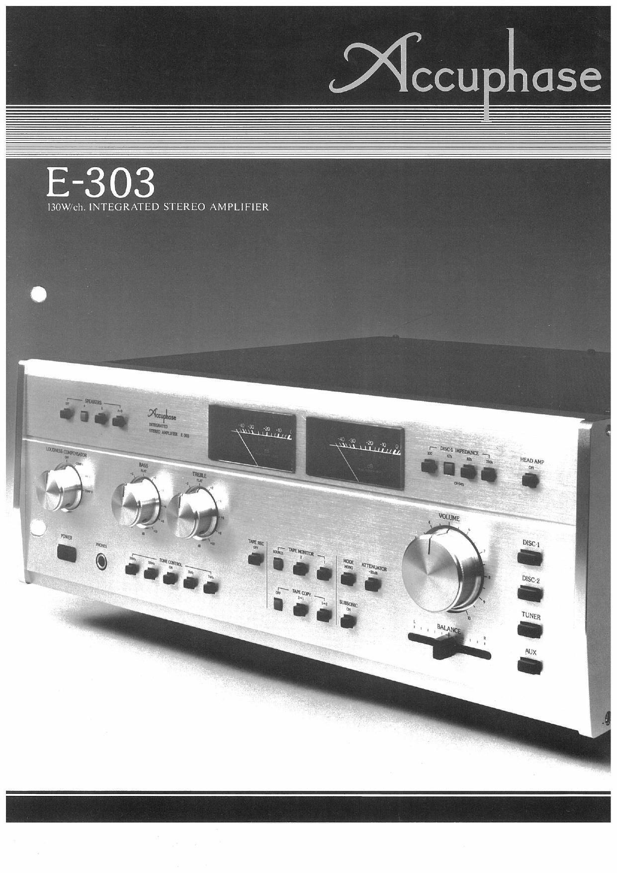 Accuphase E 303 Brochure