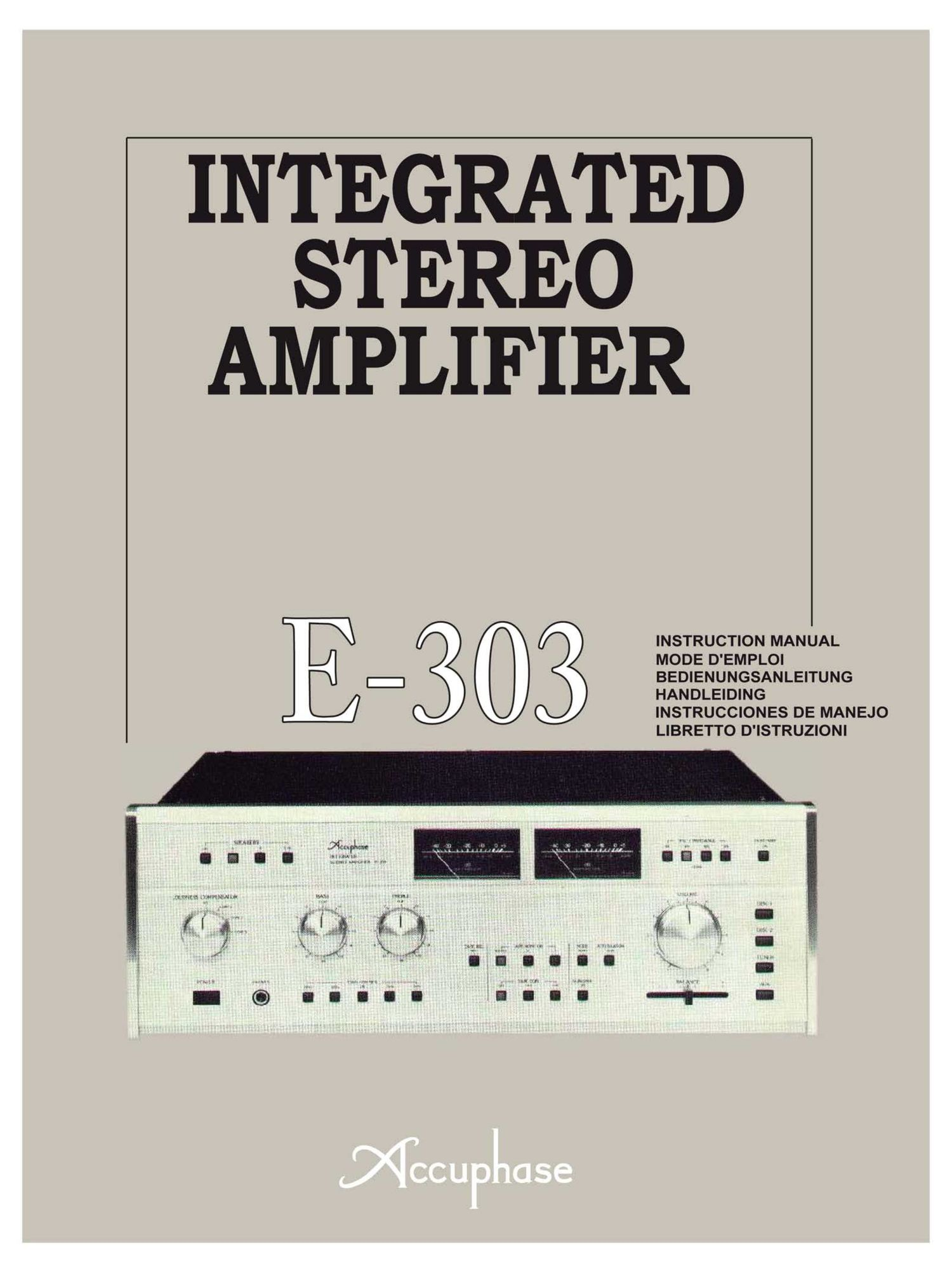 Accuphase E 303 Owners Manual