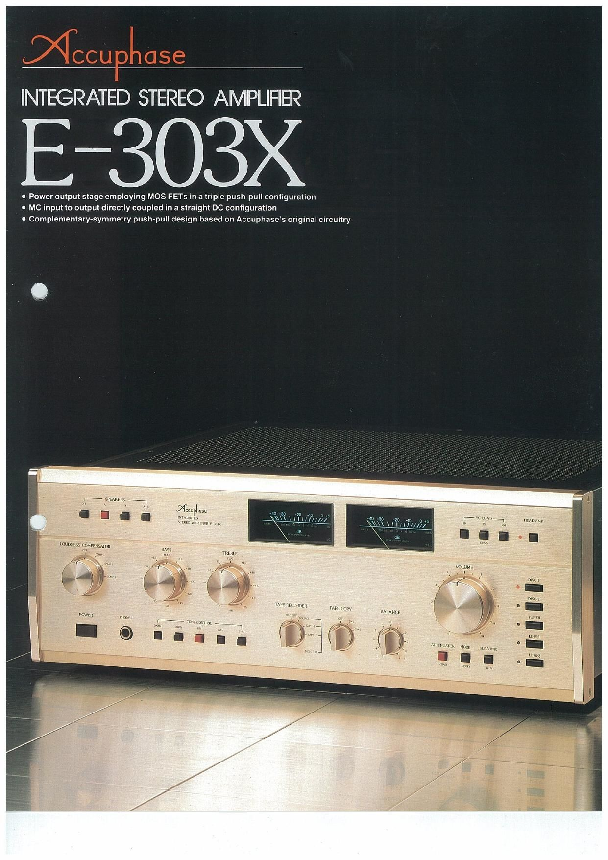 Accuphase E 303 X Brochure