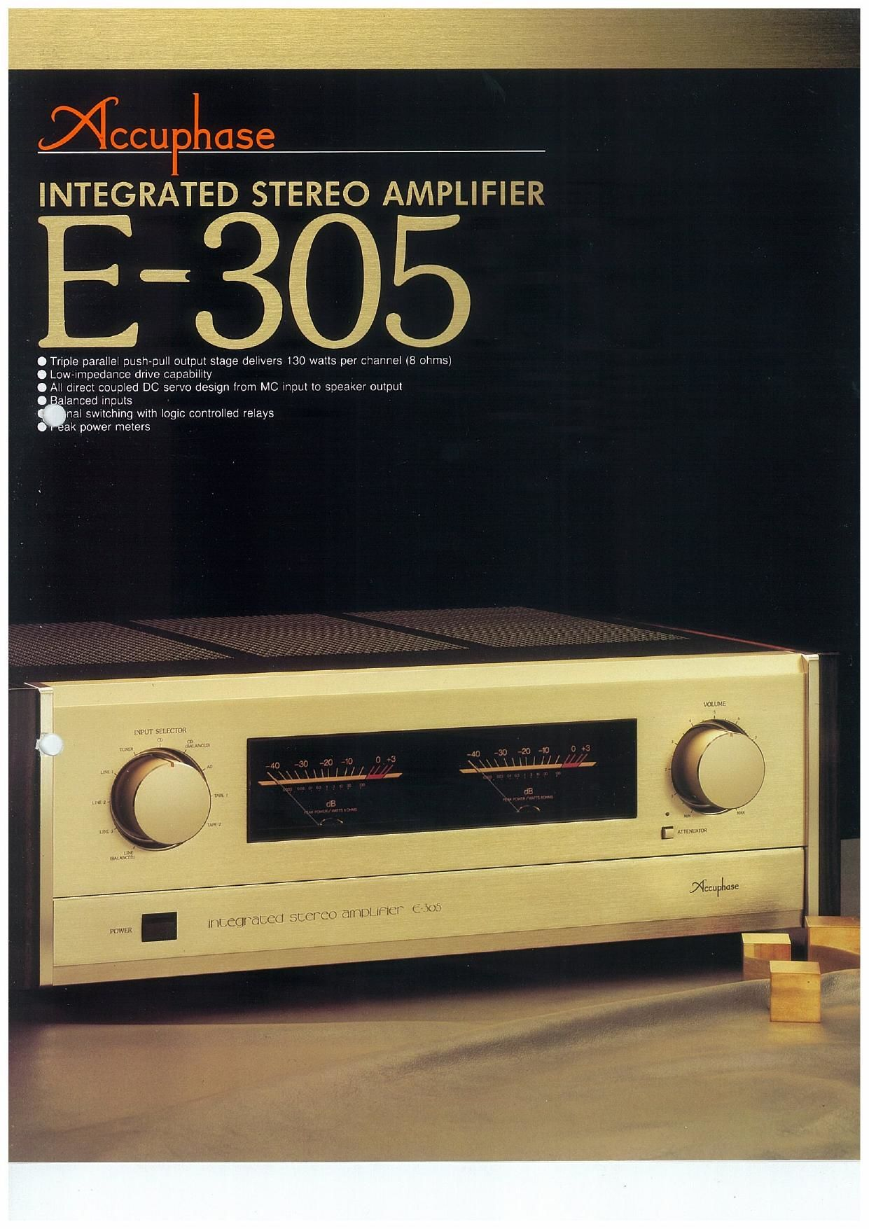 Accuphase E 305 Brochure