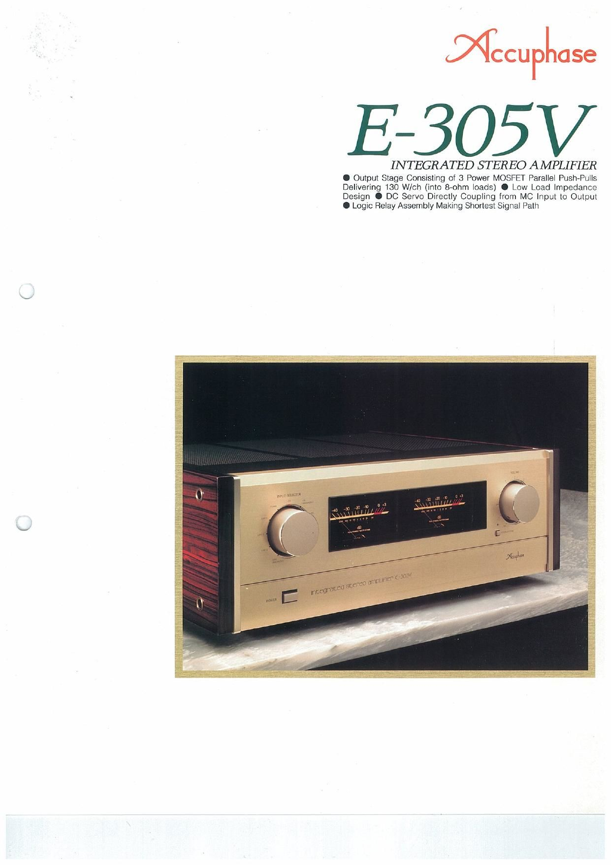 Accuphase E 305 V Brochure