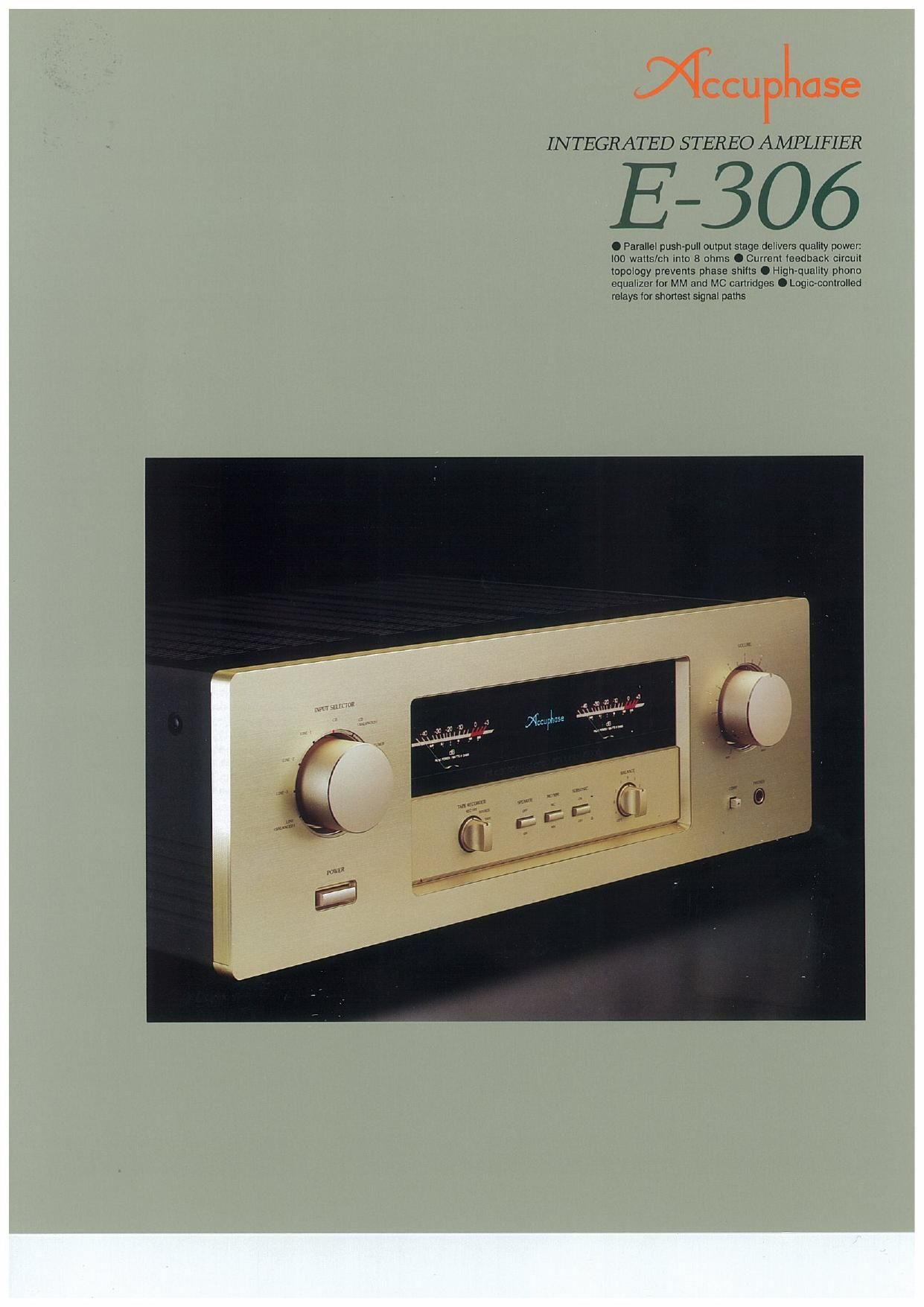 Accuphase E 306 Brochure