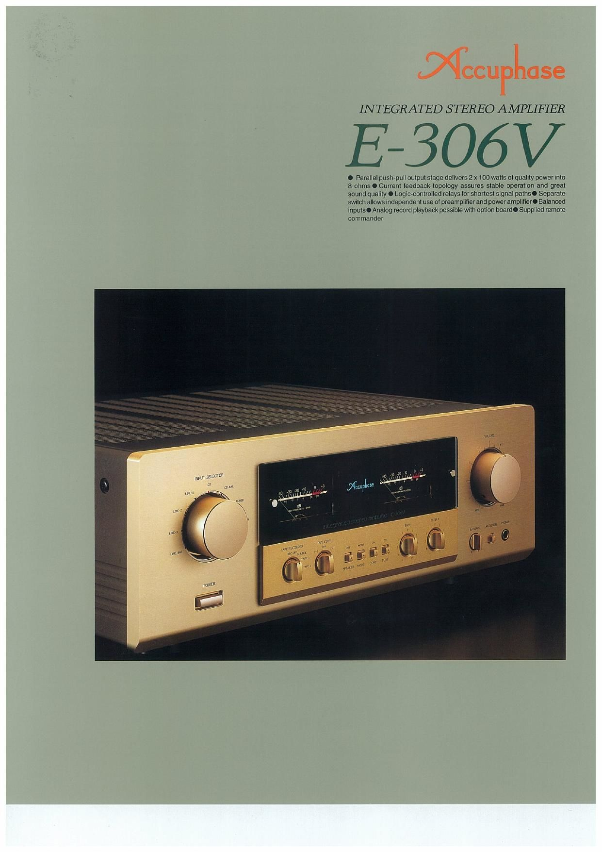 Accuphase E 306 V Brochure