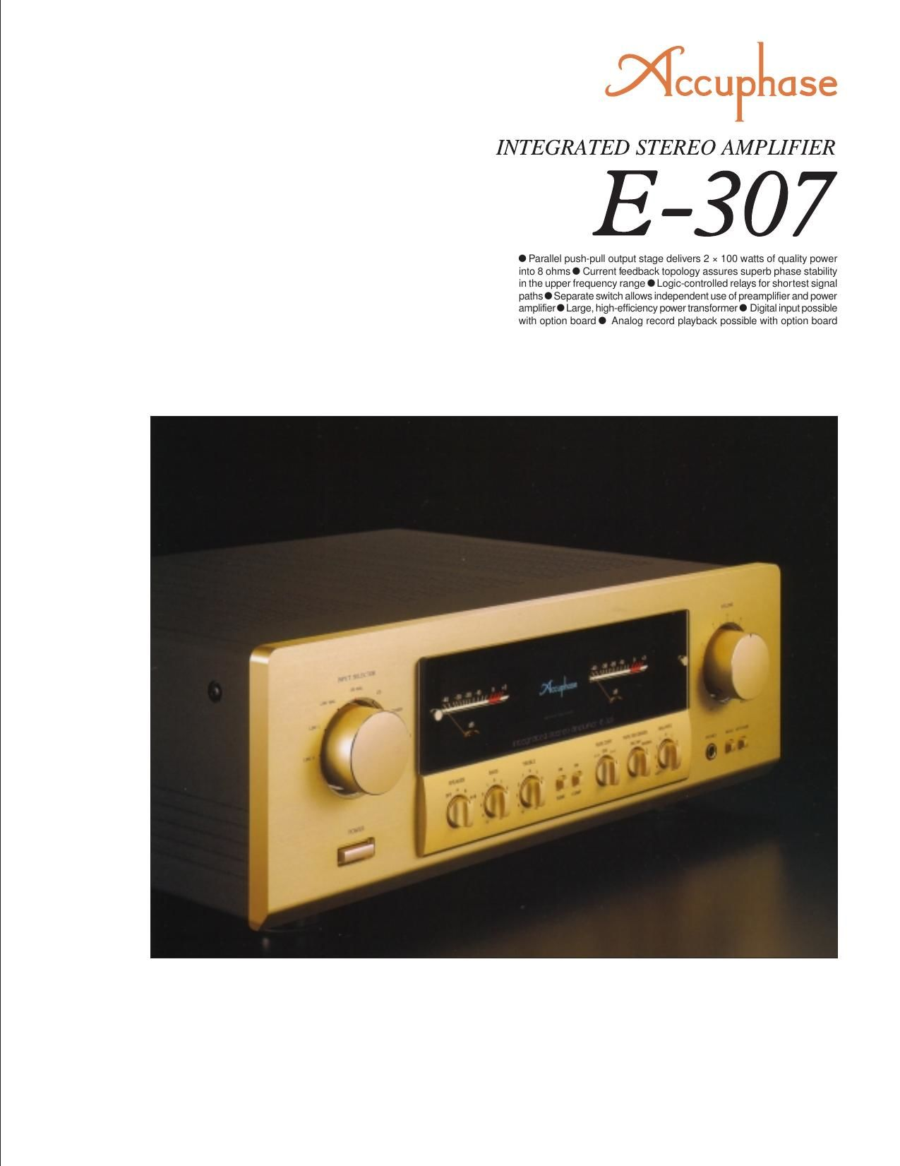 Accuphase E 307 Brochure