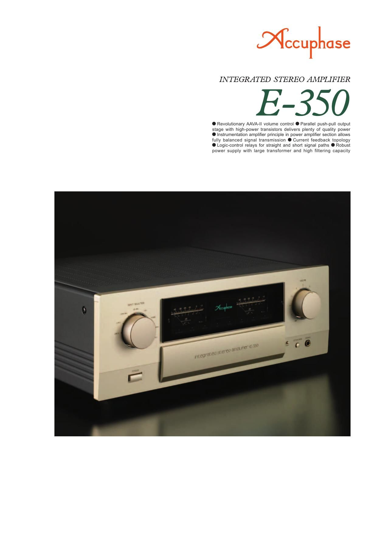Accuphase E 350 Brochure