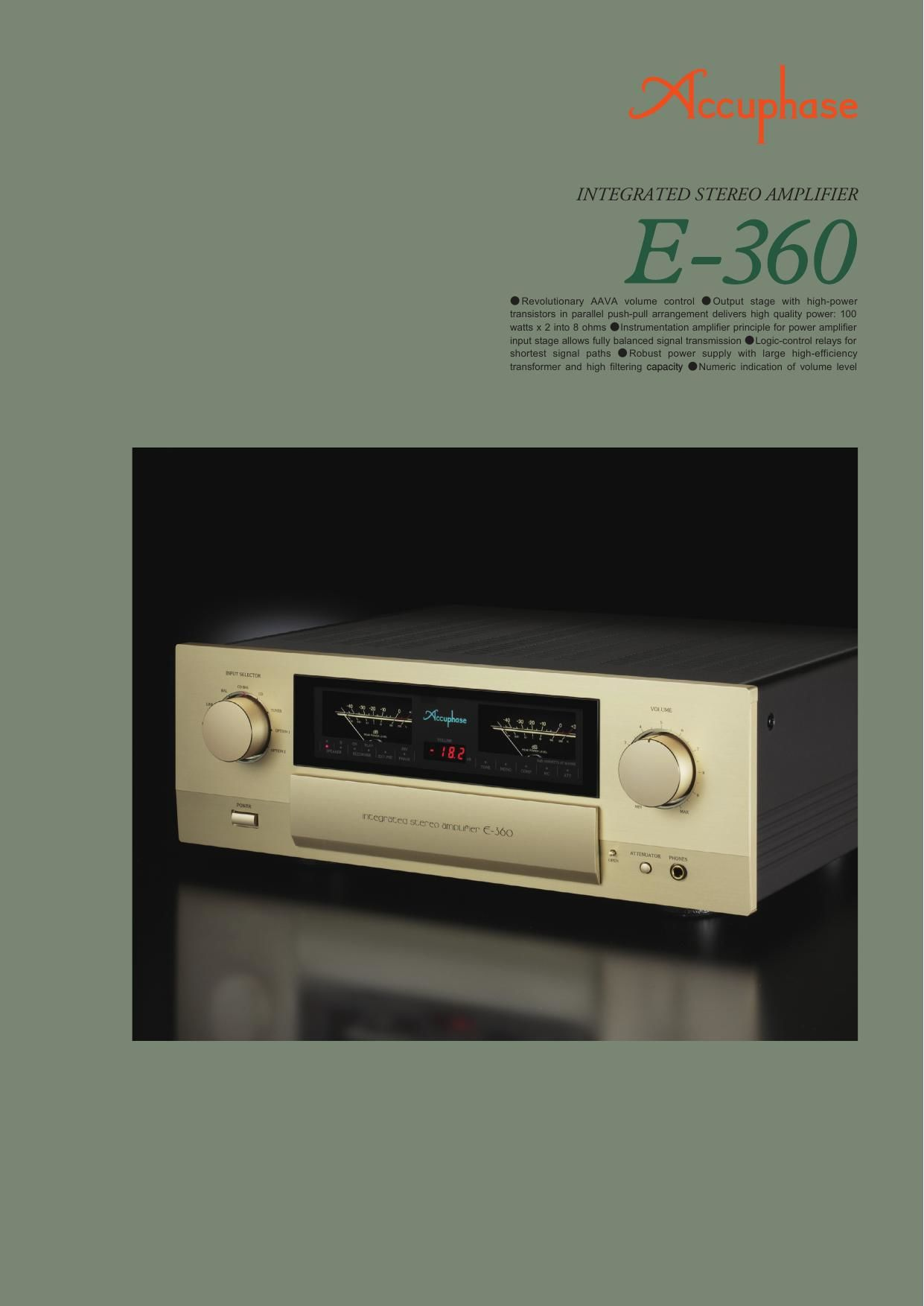Accuphase E 360 Brochure