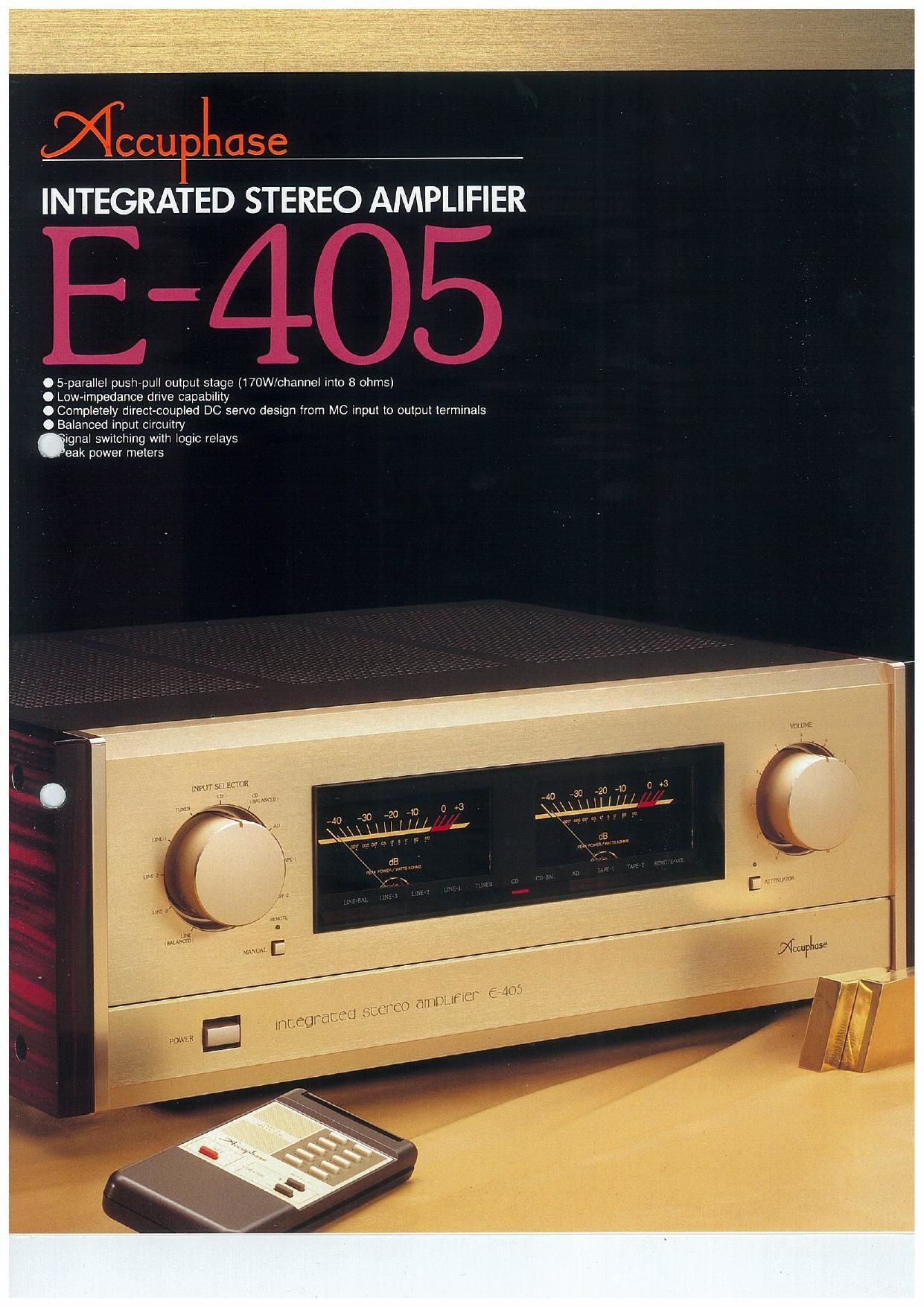 Accuphase E 405 Brochure