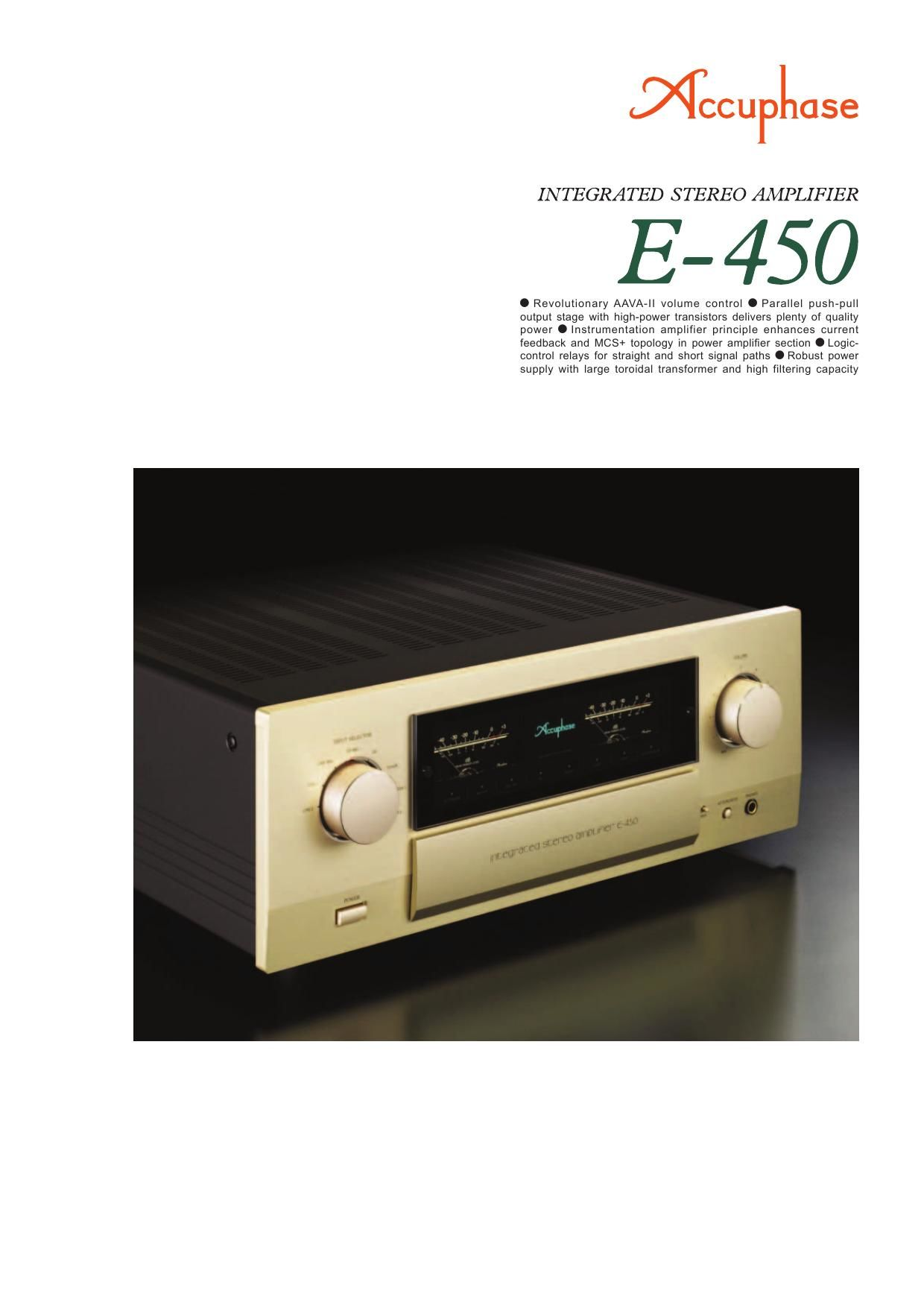 Accuphase E 450 Brochure