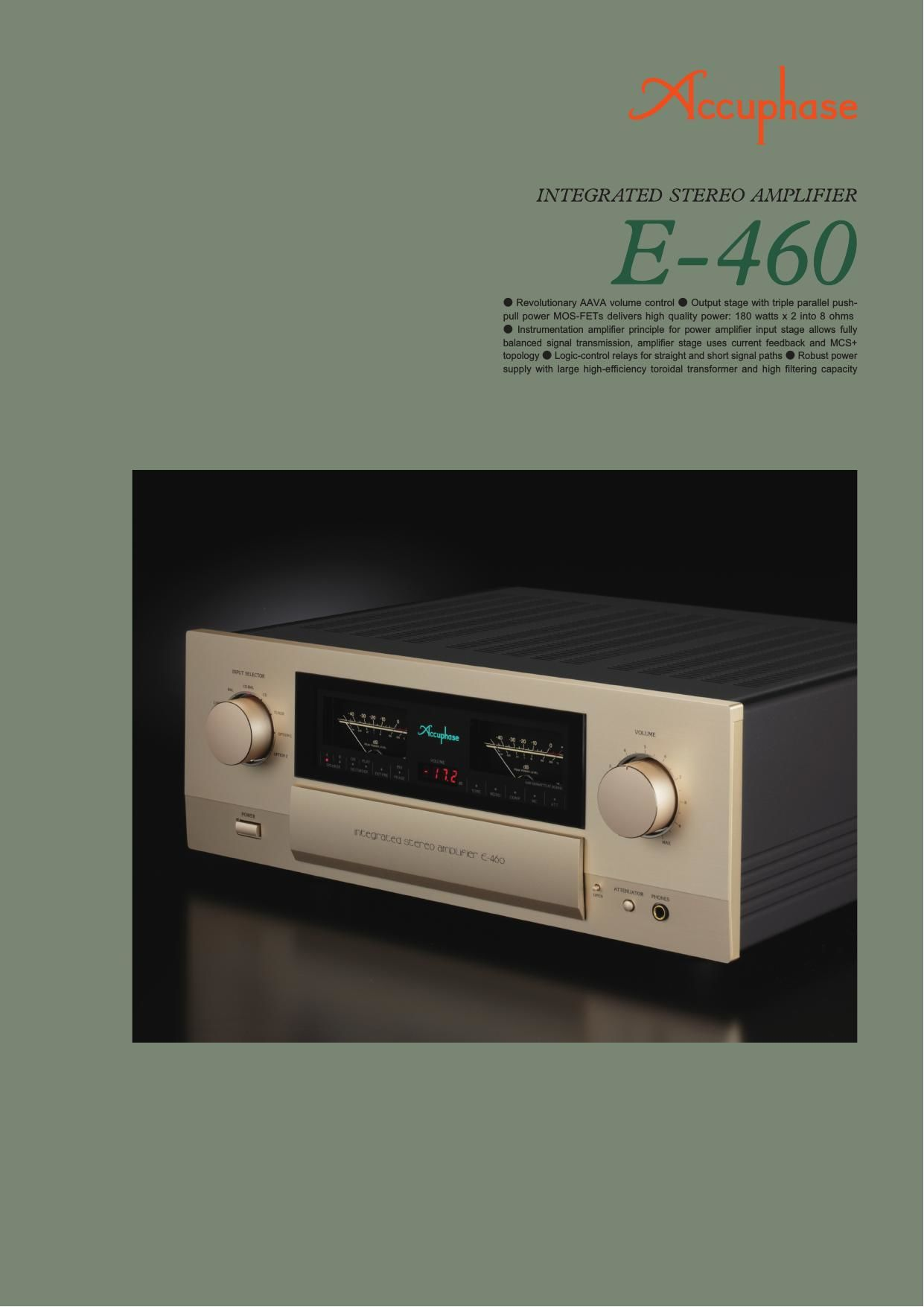 Accuphase E 460 Brochure
