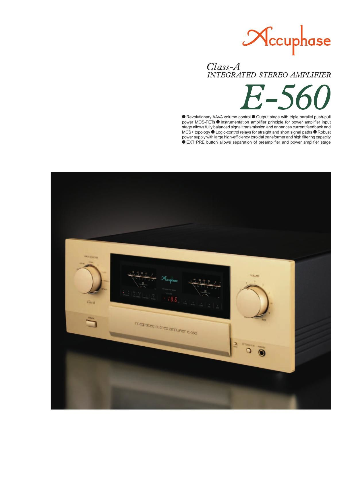 Accuphase E 560 Brochure