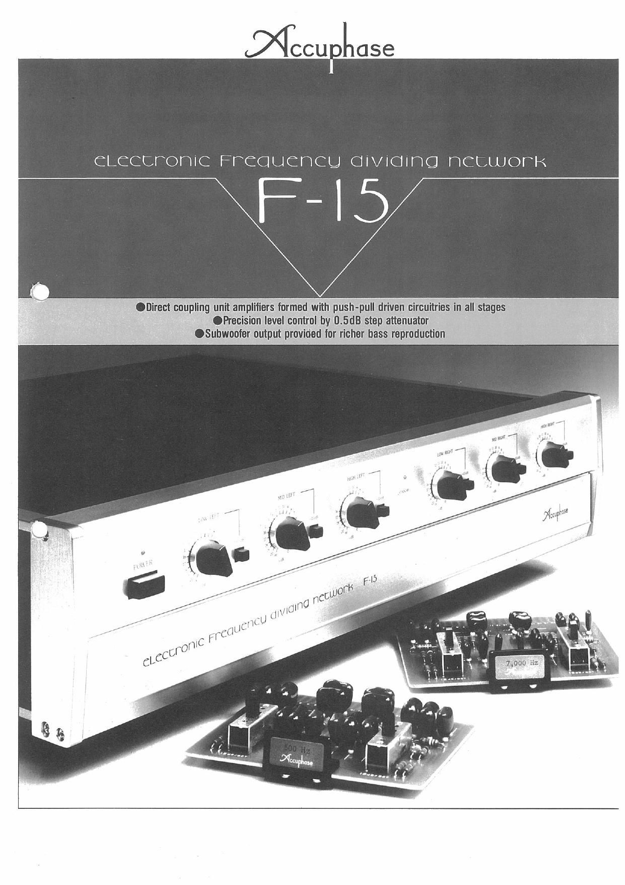 Accuphase F 15 Brochure