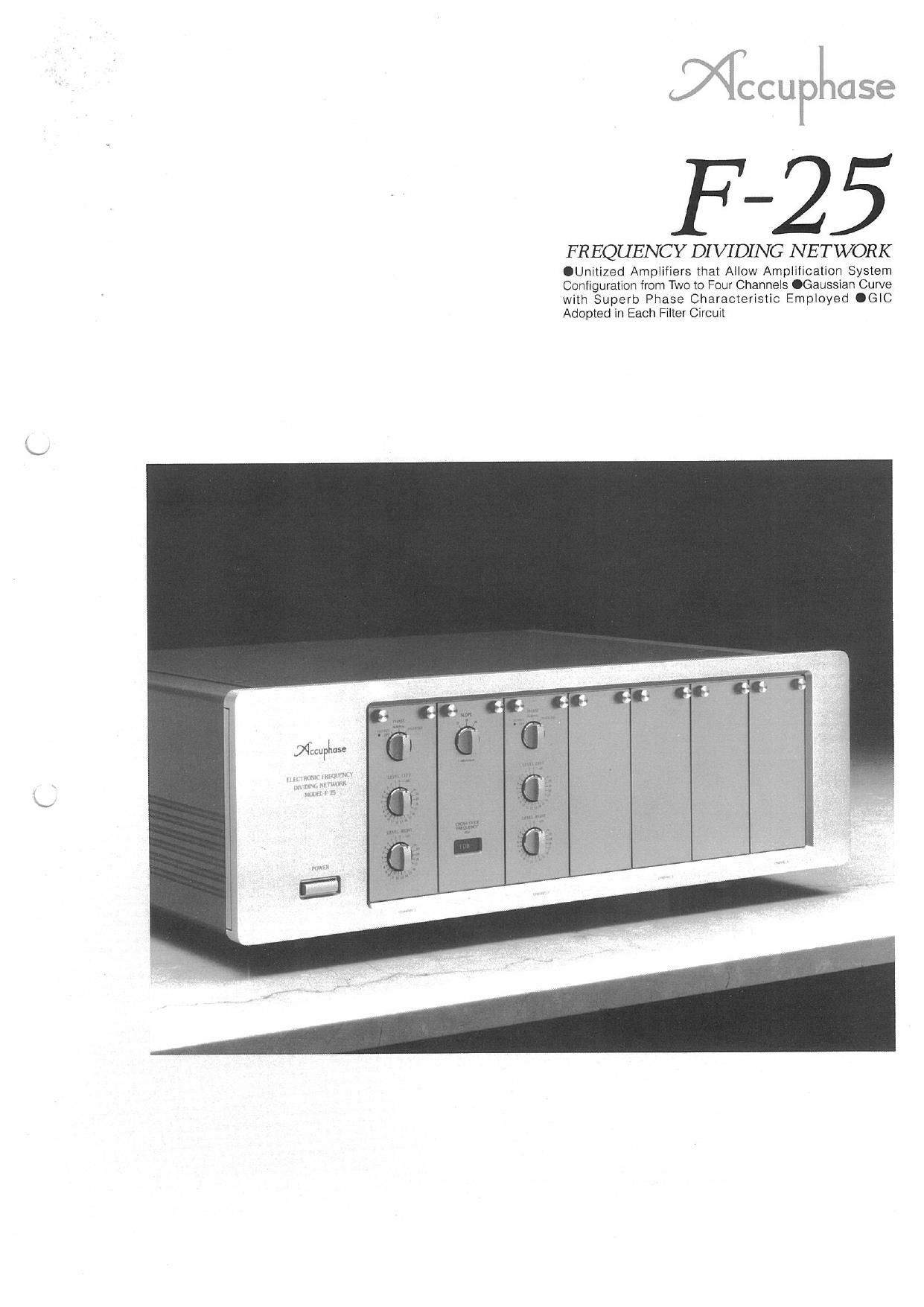 Accuphase F 25 Brochure