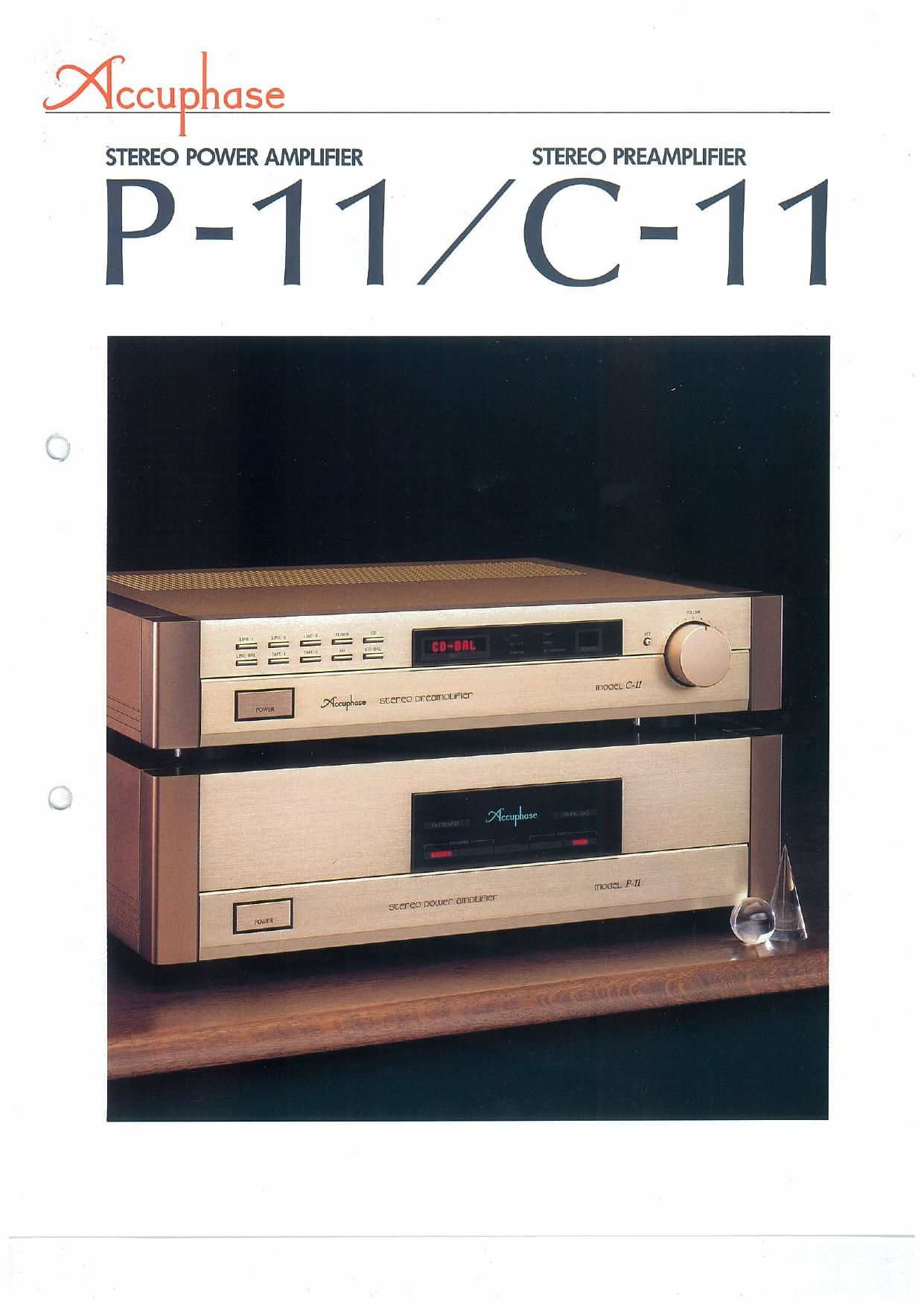 Accuphase M 11 Brochure