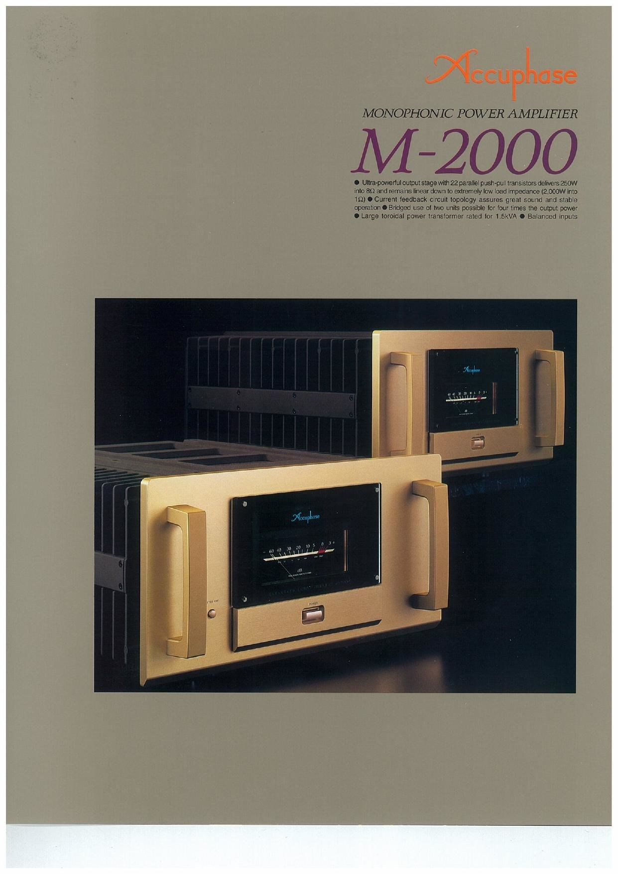 Accuphase M 2000 Brochure