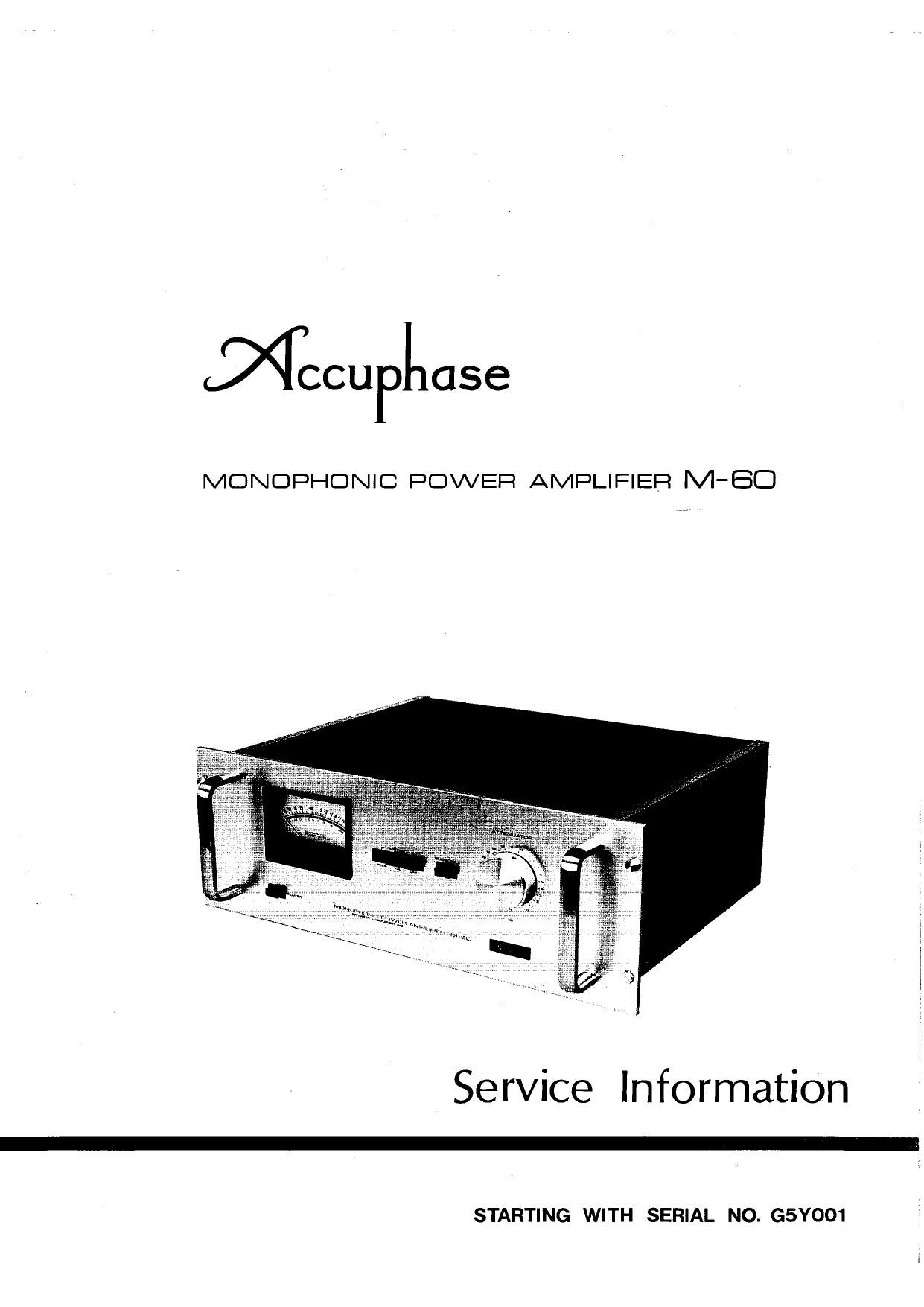Accuphase M 60 Service Manual