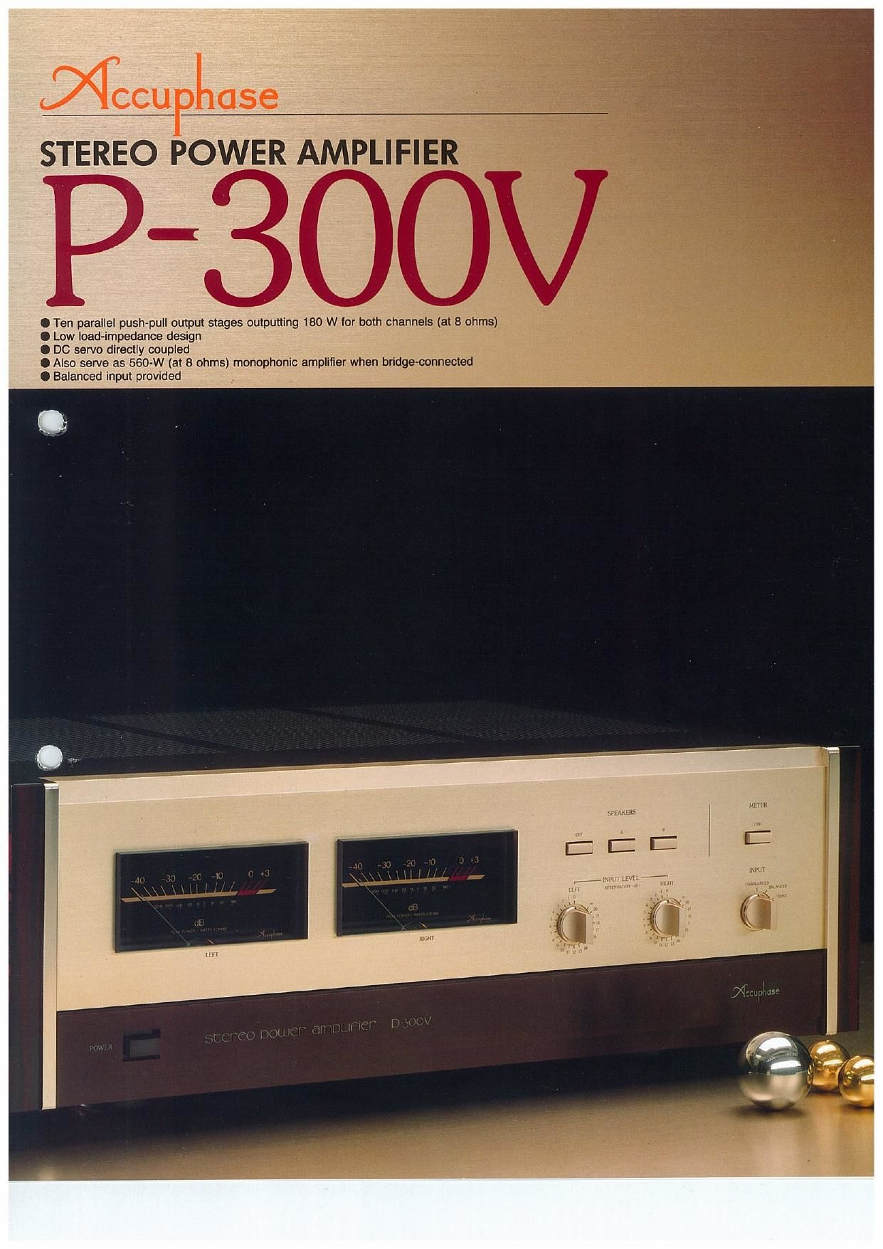 Accuphase P 300 V Brochure