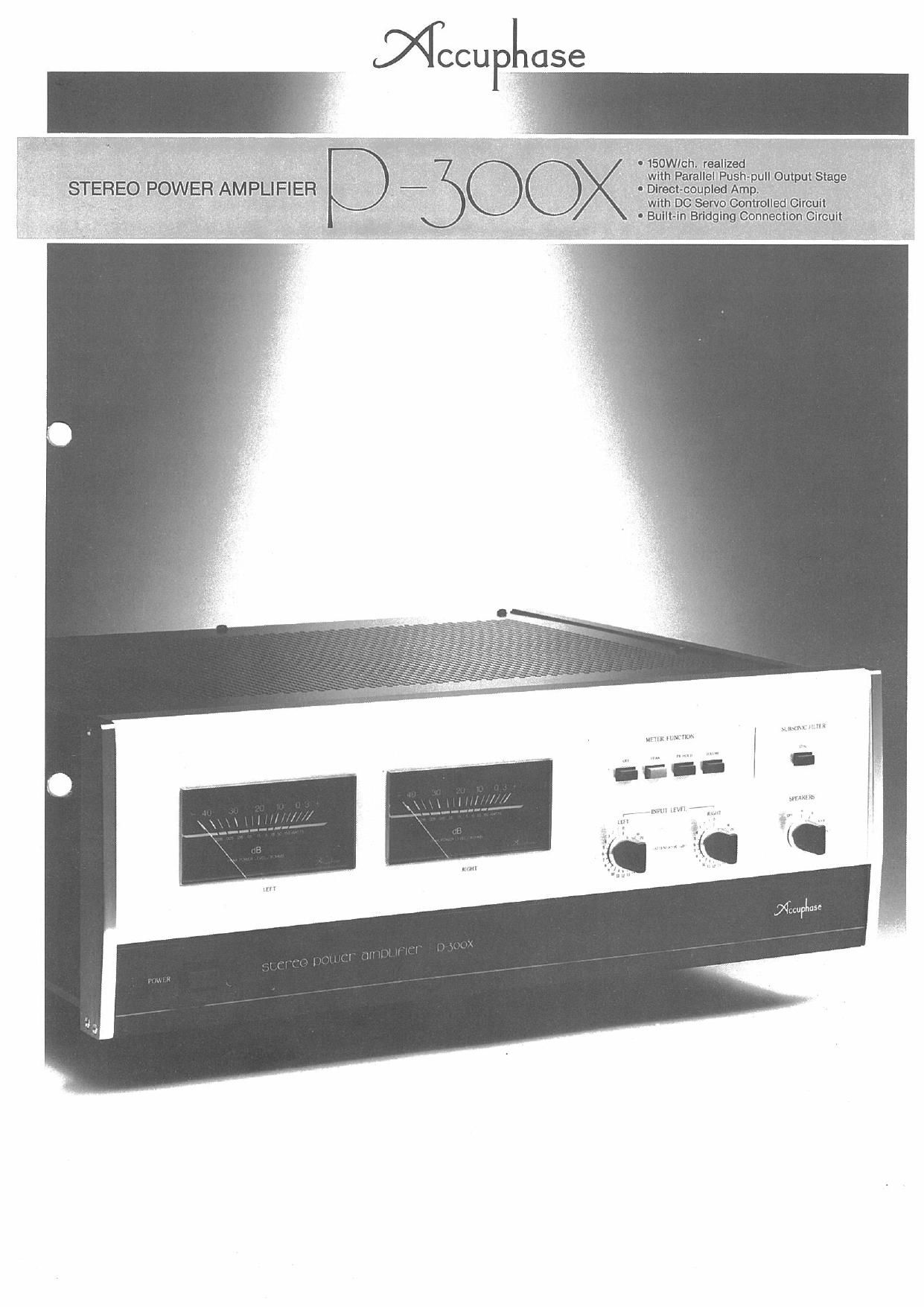 Accuphase P 300 X Brochure