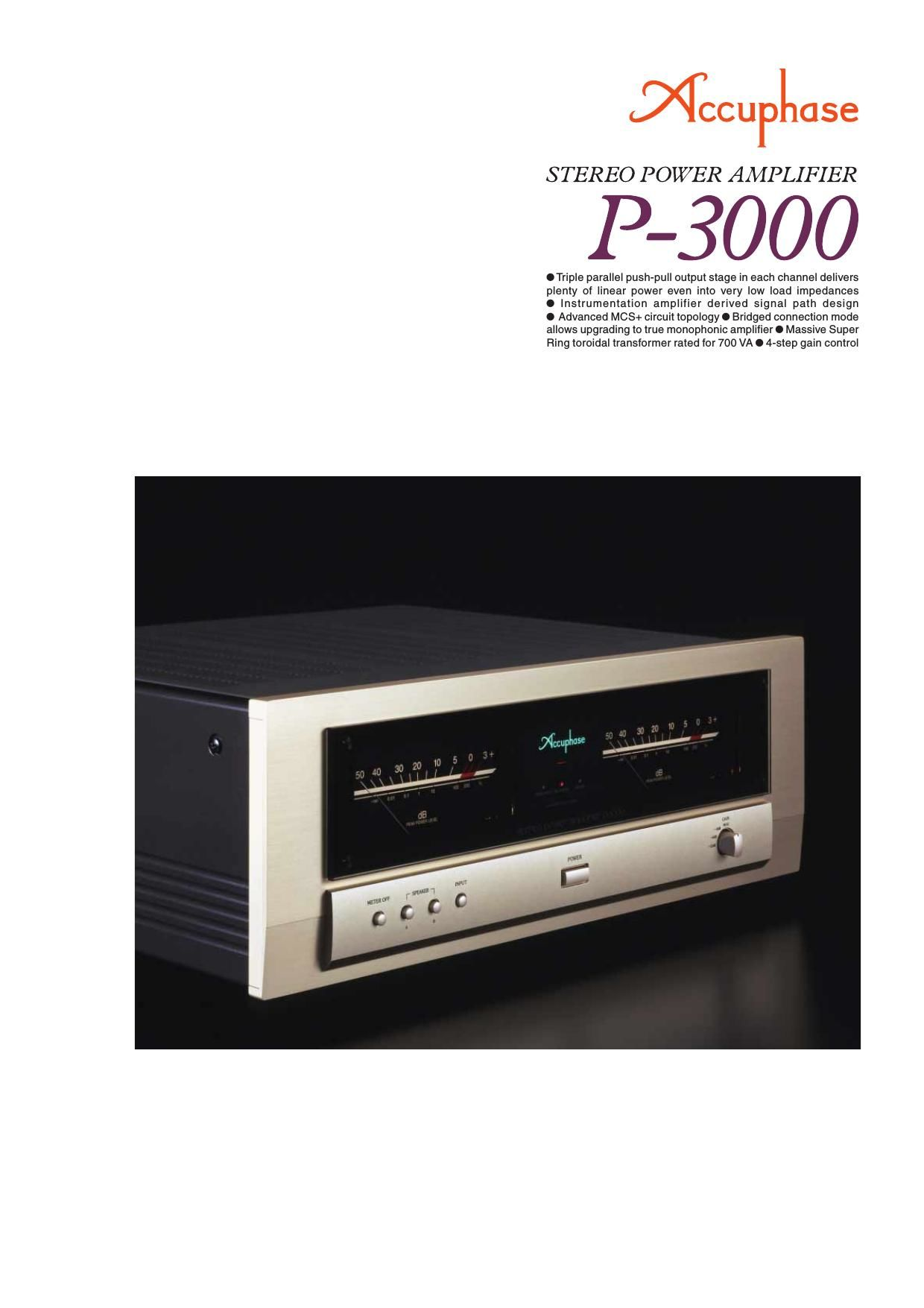 Accuphase P 3000 Brochure