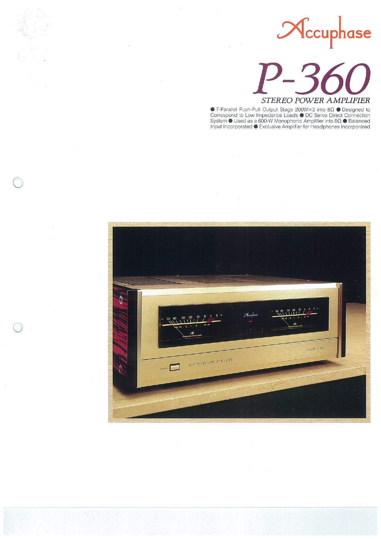 Accuphase P 360 Brochure