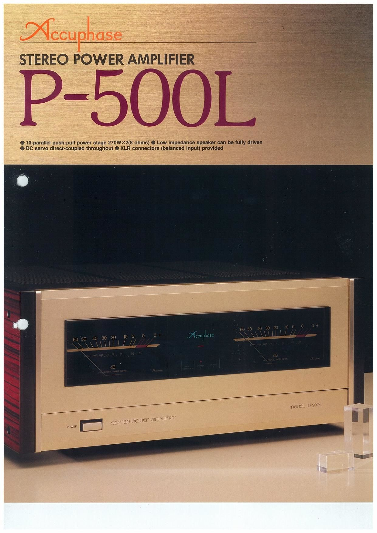Accuphase P 500 L Brochure