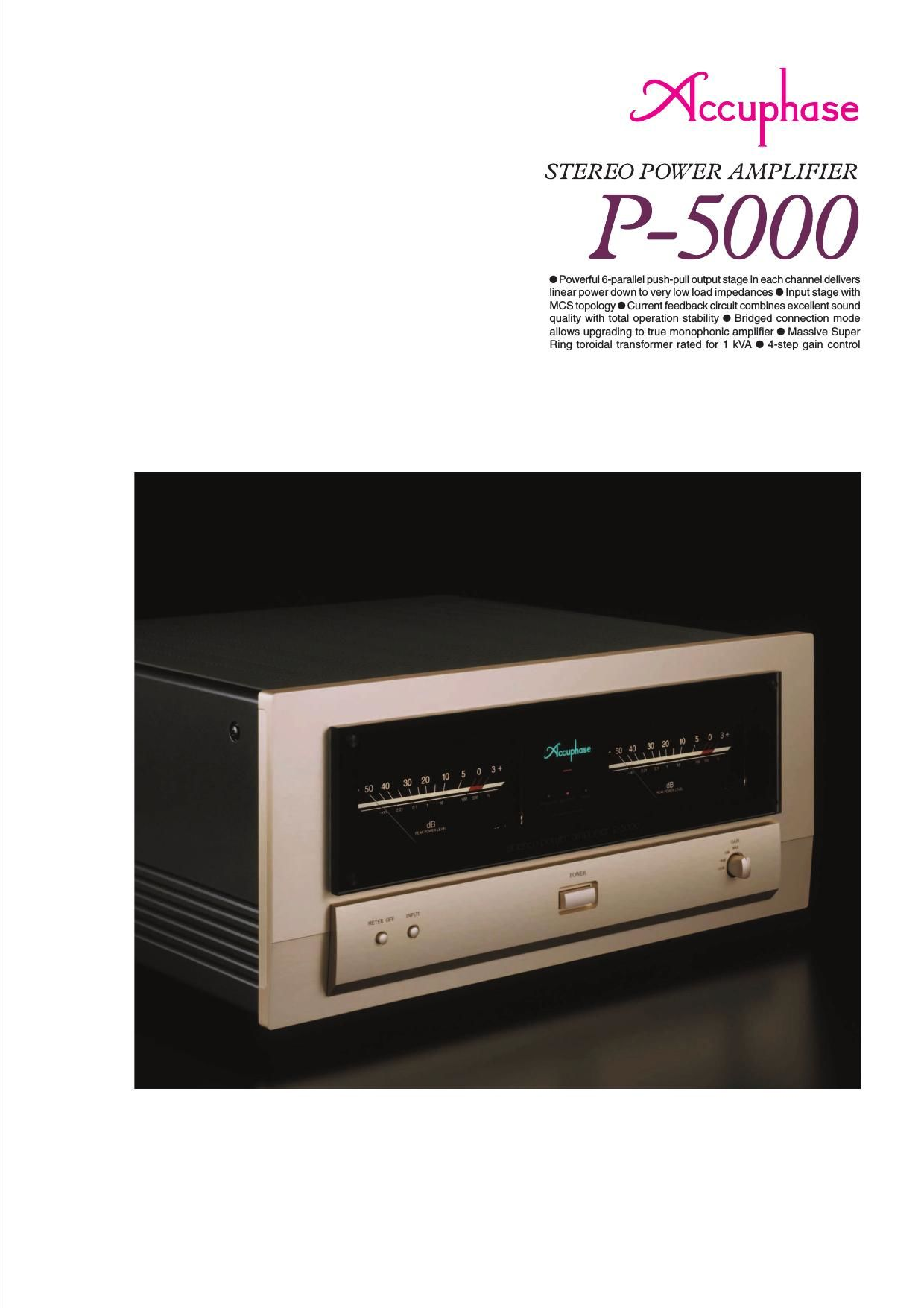 Accuphase P 5000 Brochure