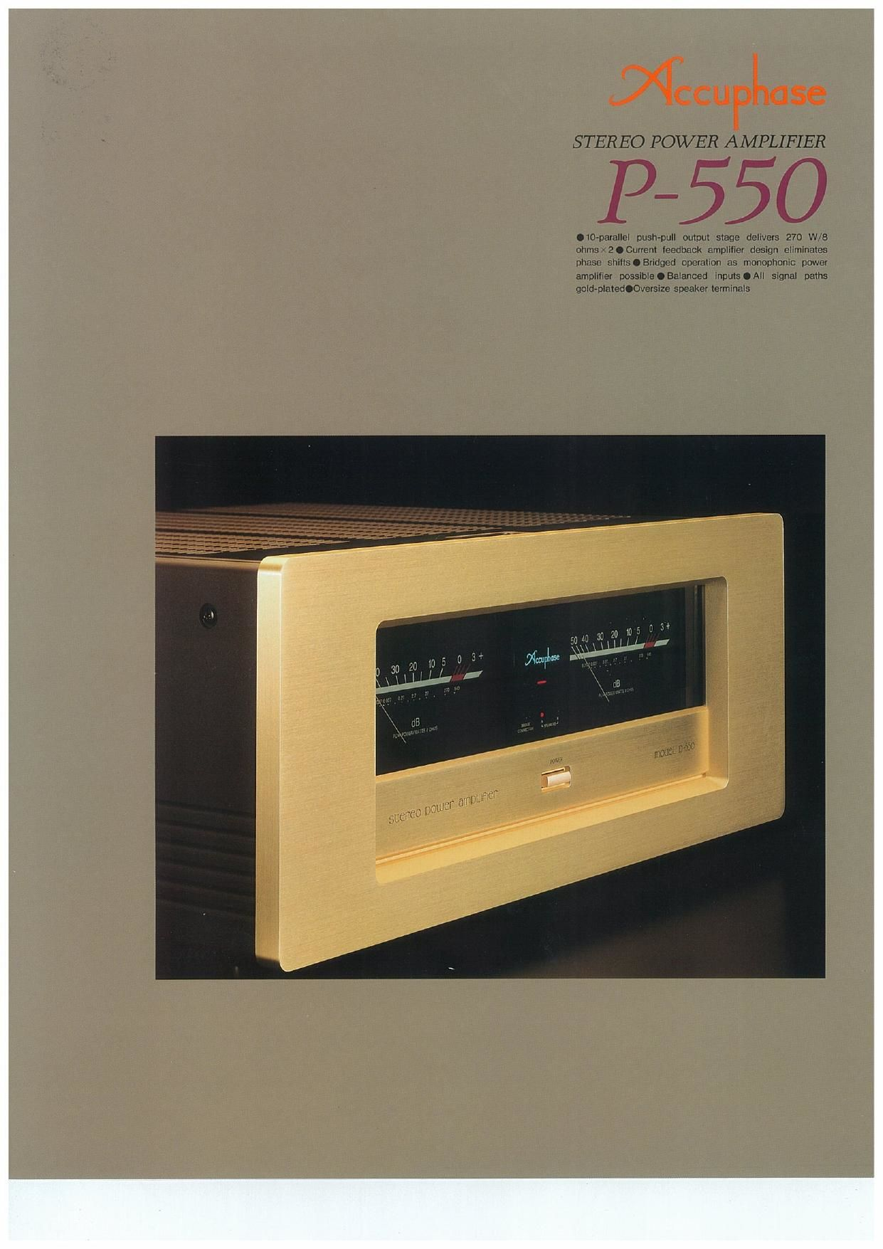 Accuphase P 550 Brochure