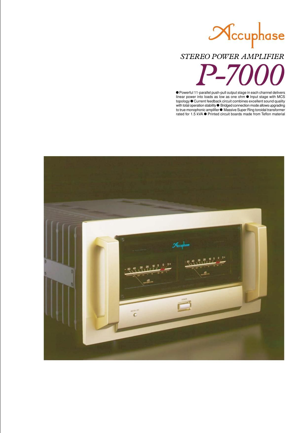 Accuphase P 7000 Brochure