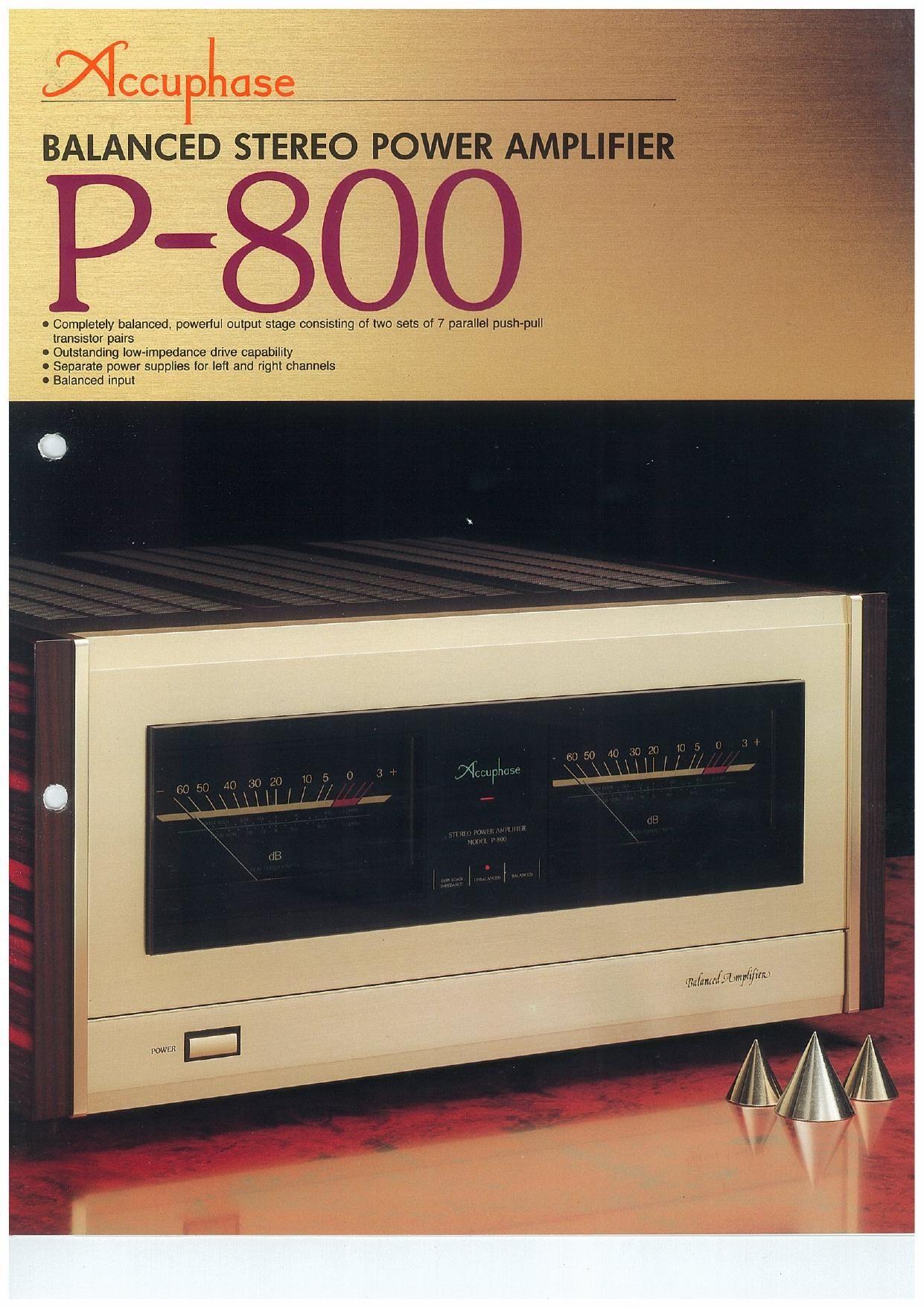Accuphase P 800 Brochure