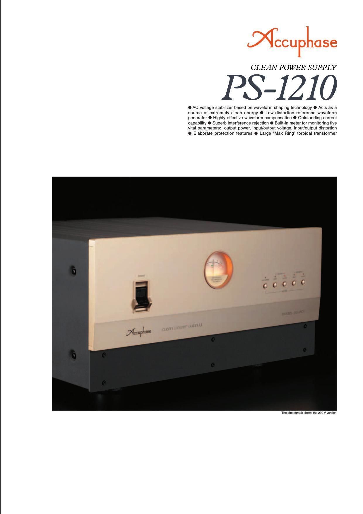 Accuphase PS 1210 Brochure