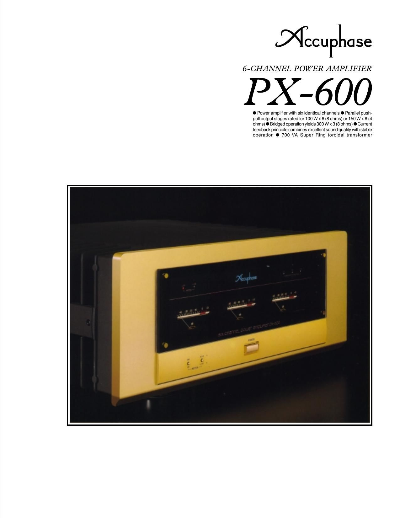 Accuphase PX 600 Brochure