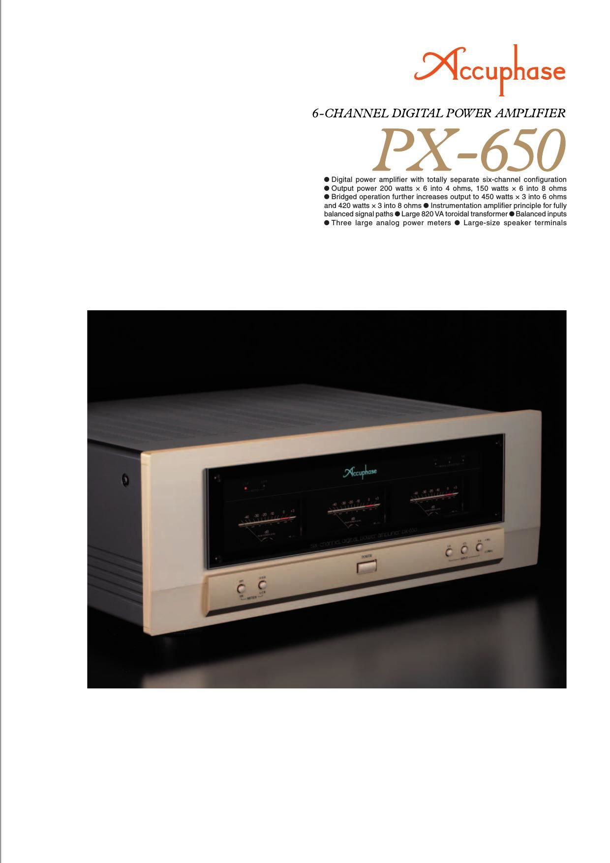 Accuphase PX 650 Brochure