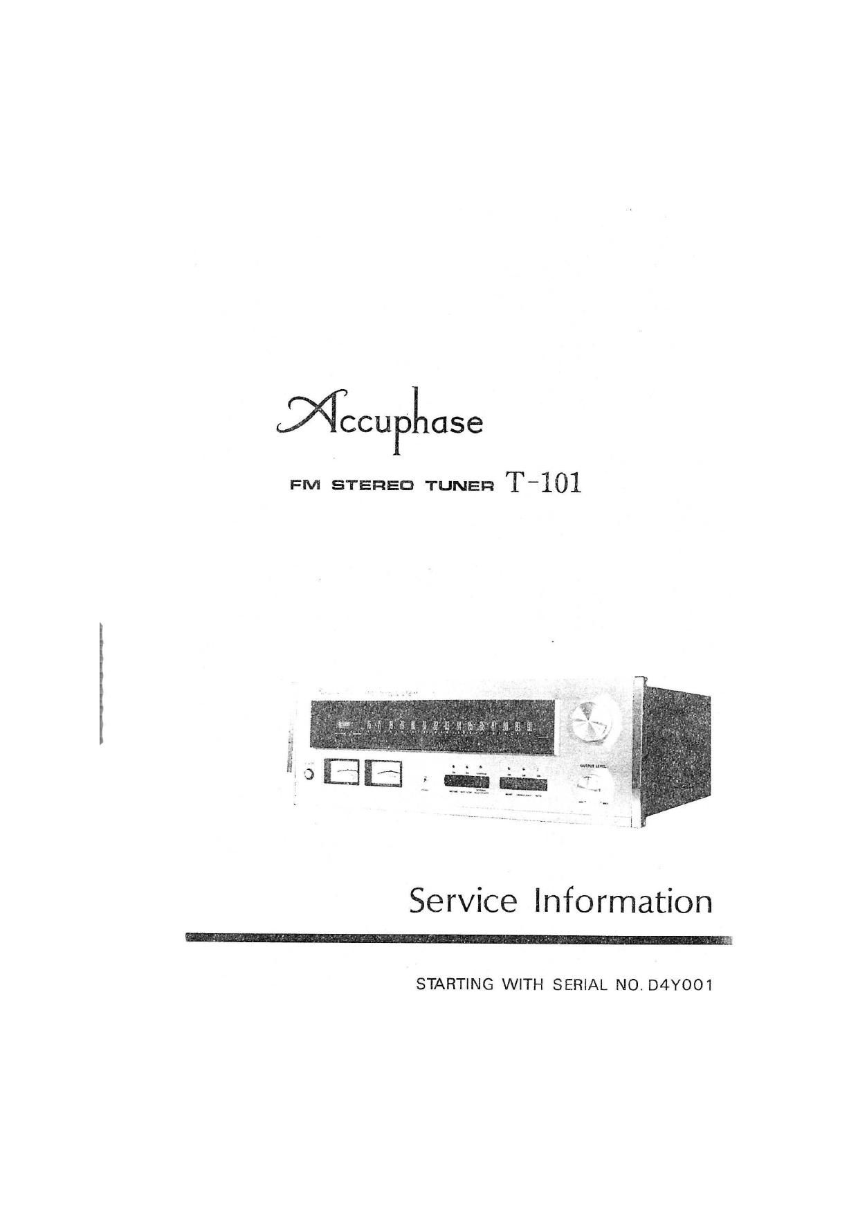 Accuphase T 101 Service Manual