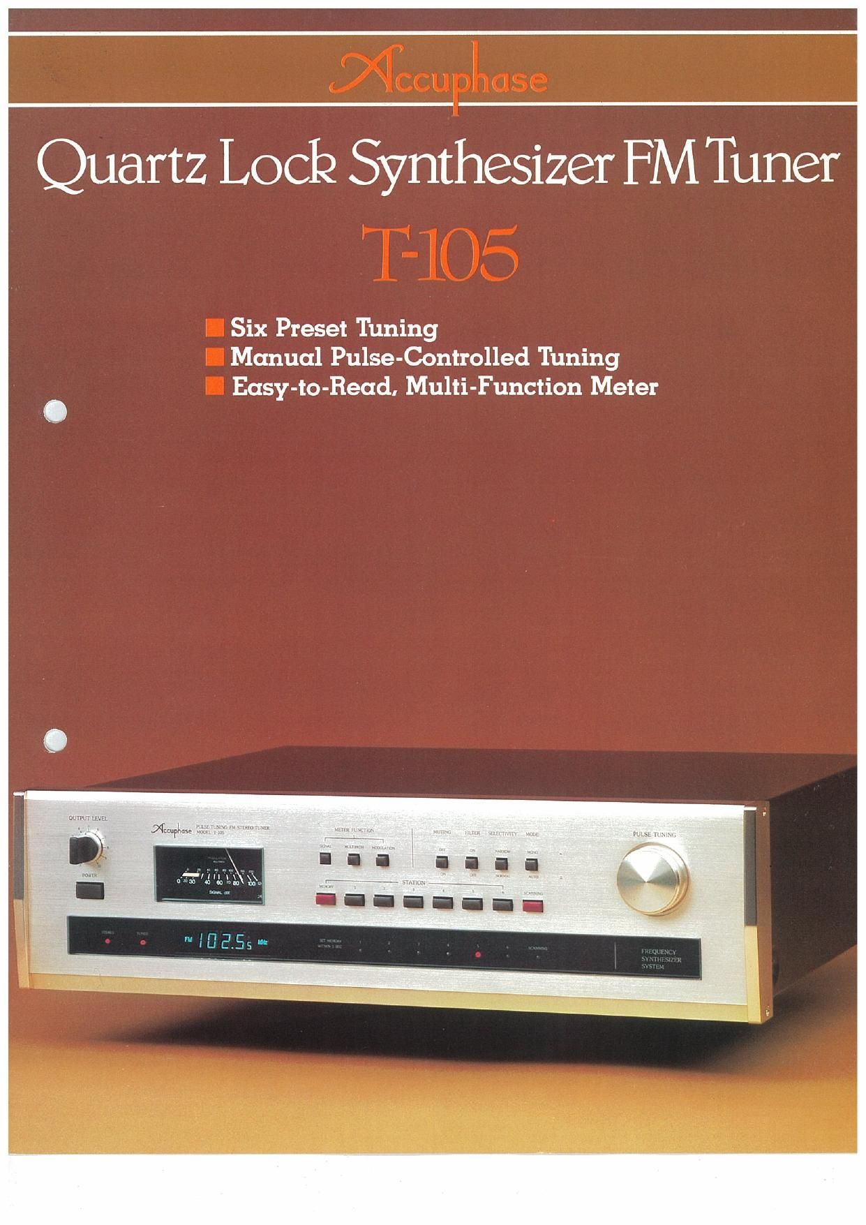 Accuphase T 105 Brochure