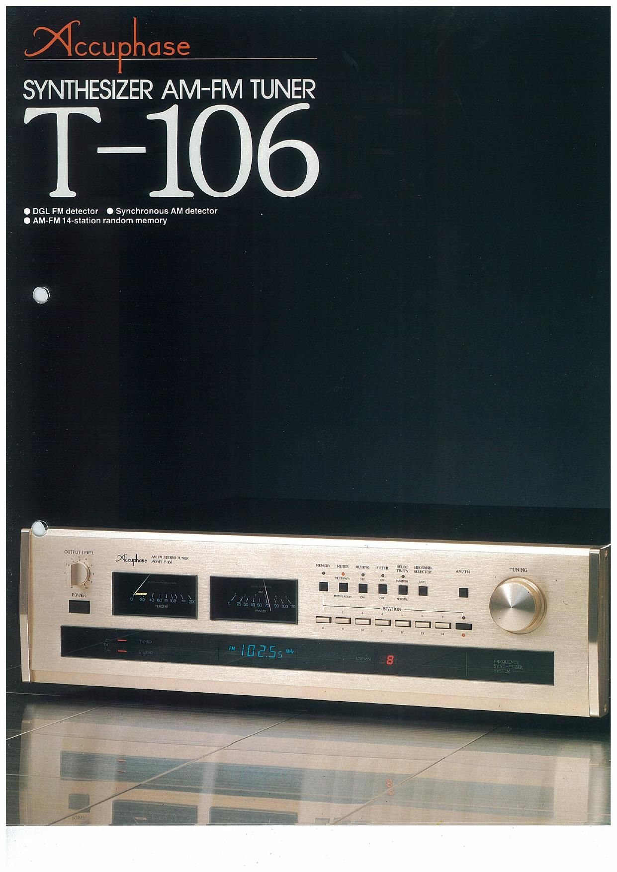 Accuphase T 106 Brochure