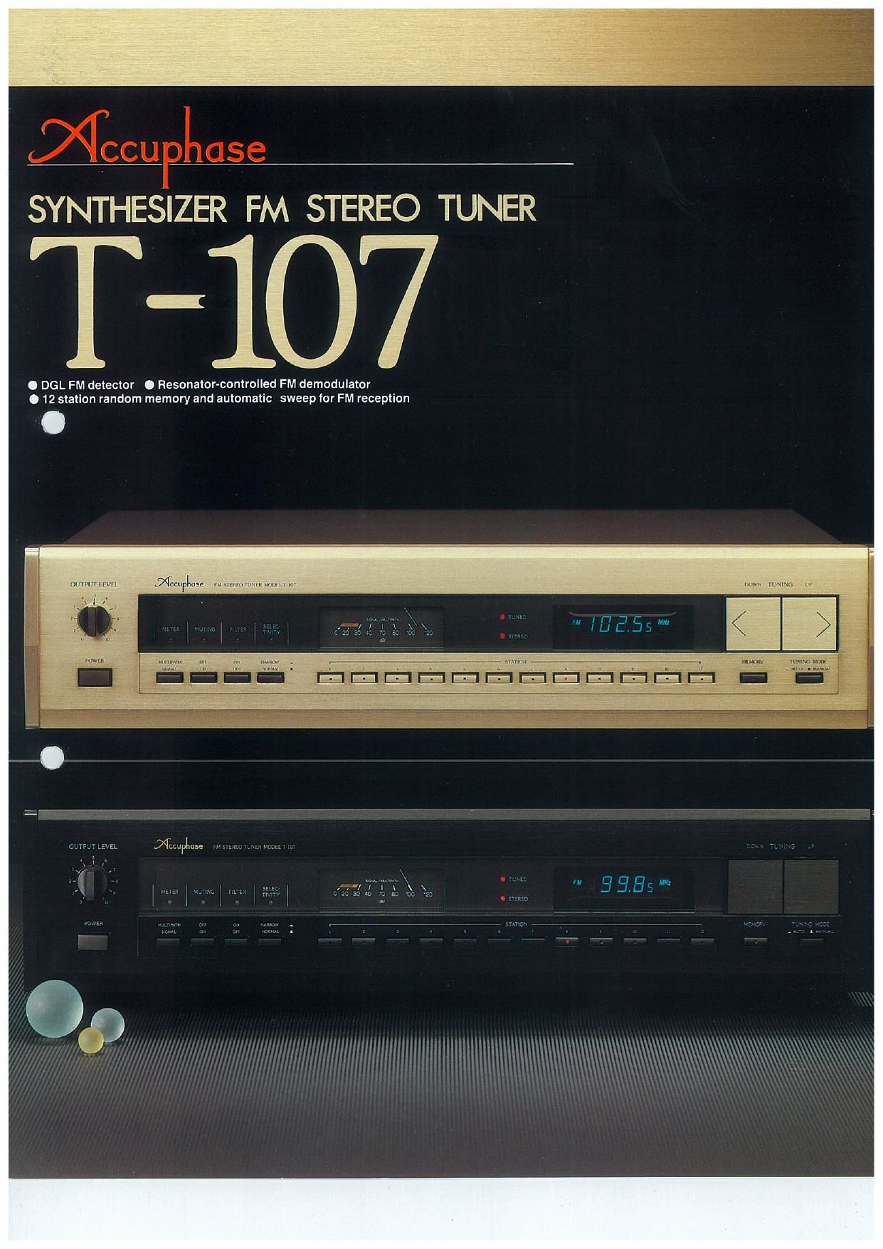 Accuphase T 107 Brochure