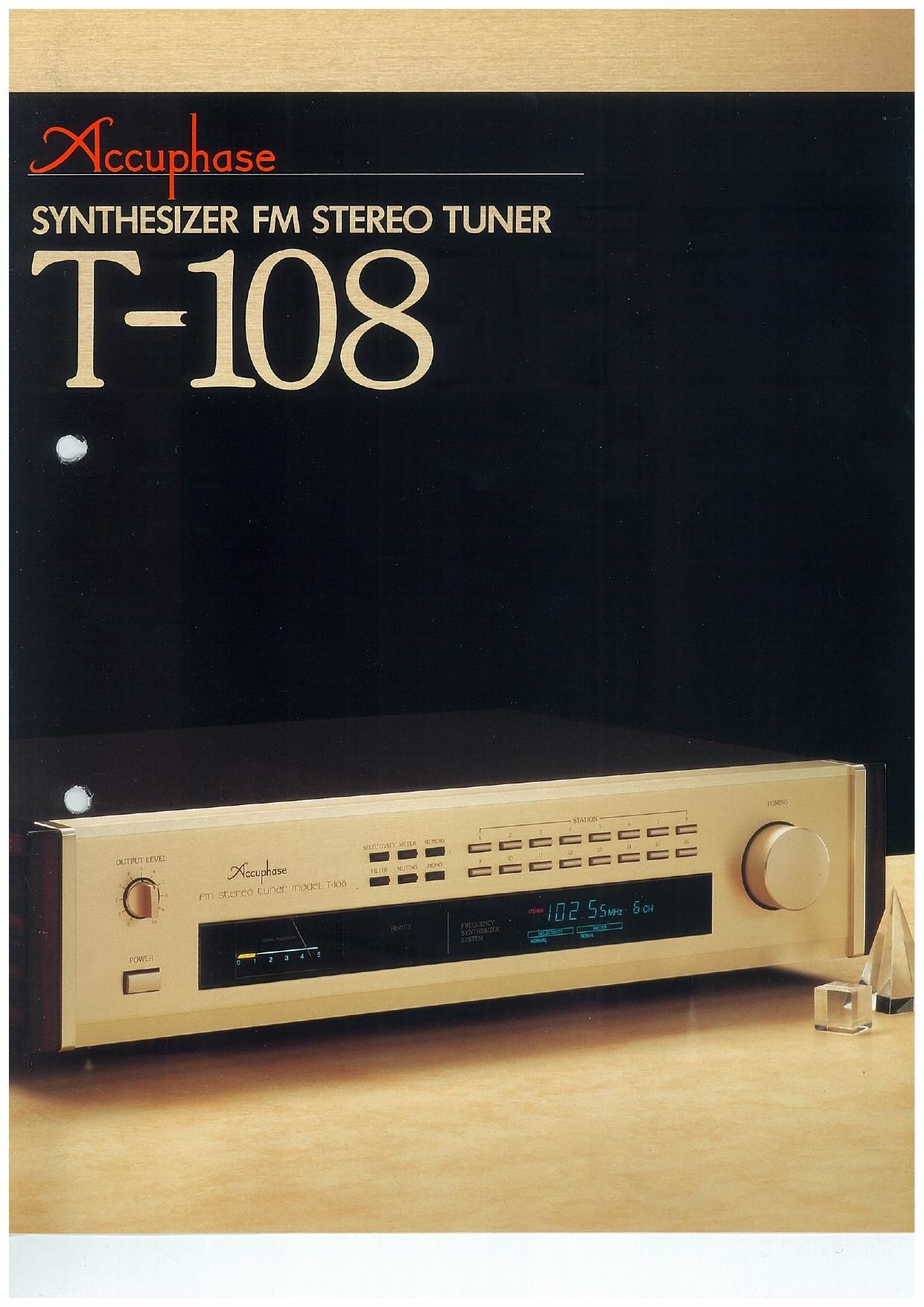 Accuphase T 108 Brochure