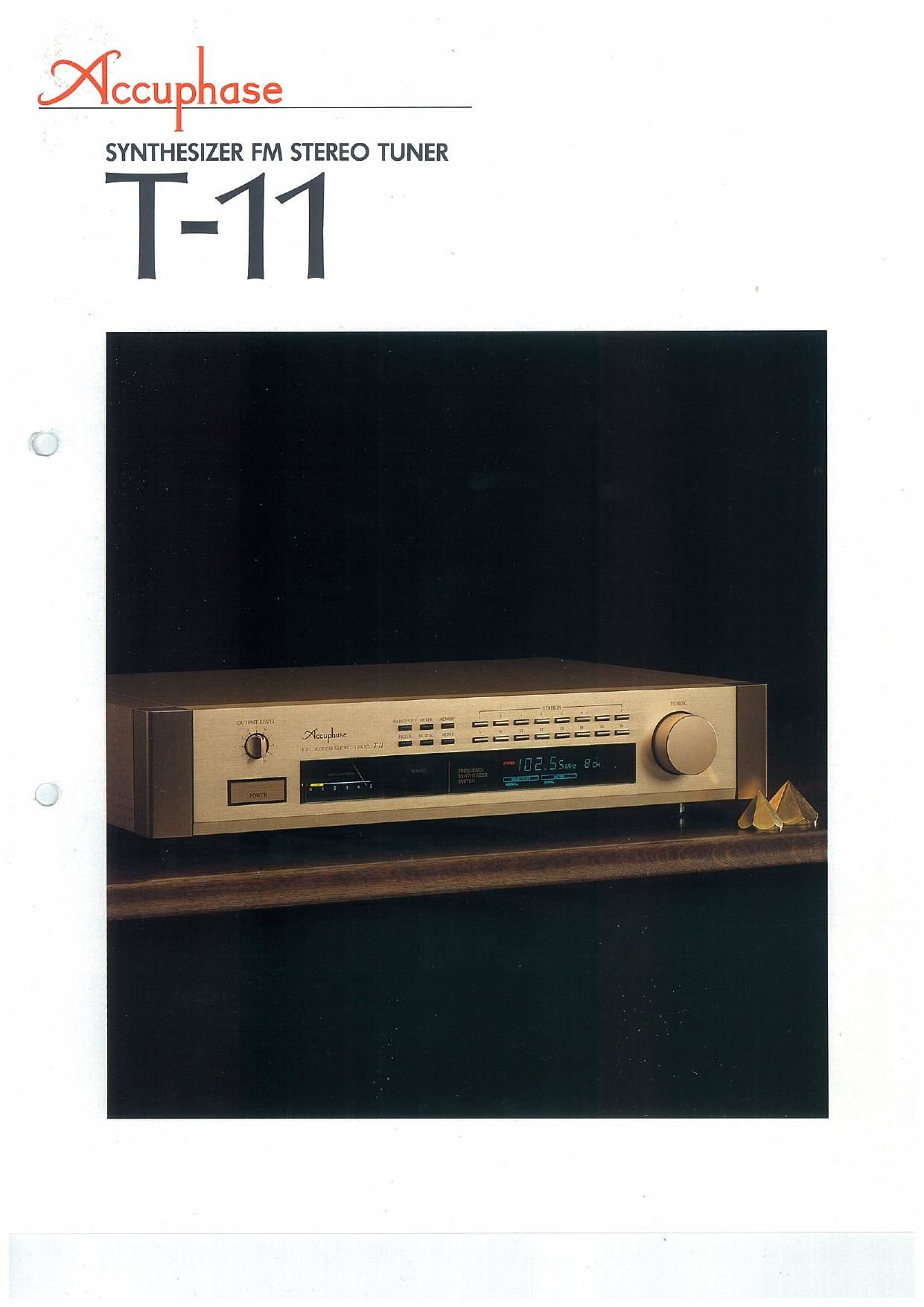 Accuphase T 11 Brochure