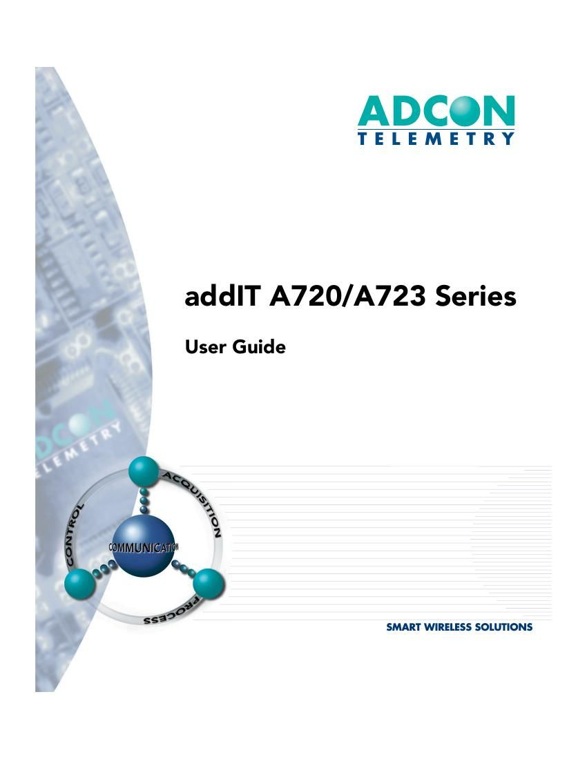 Adcom A 723 Owners Manual
