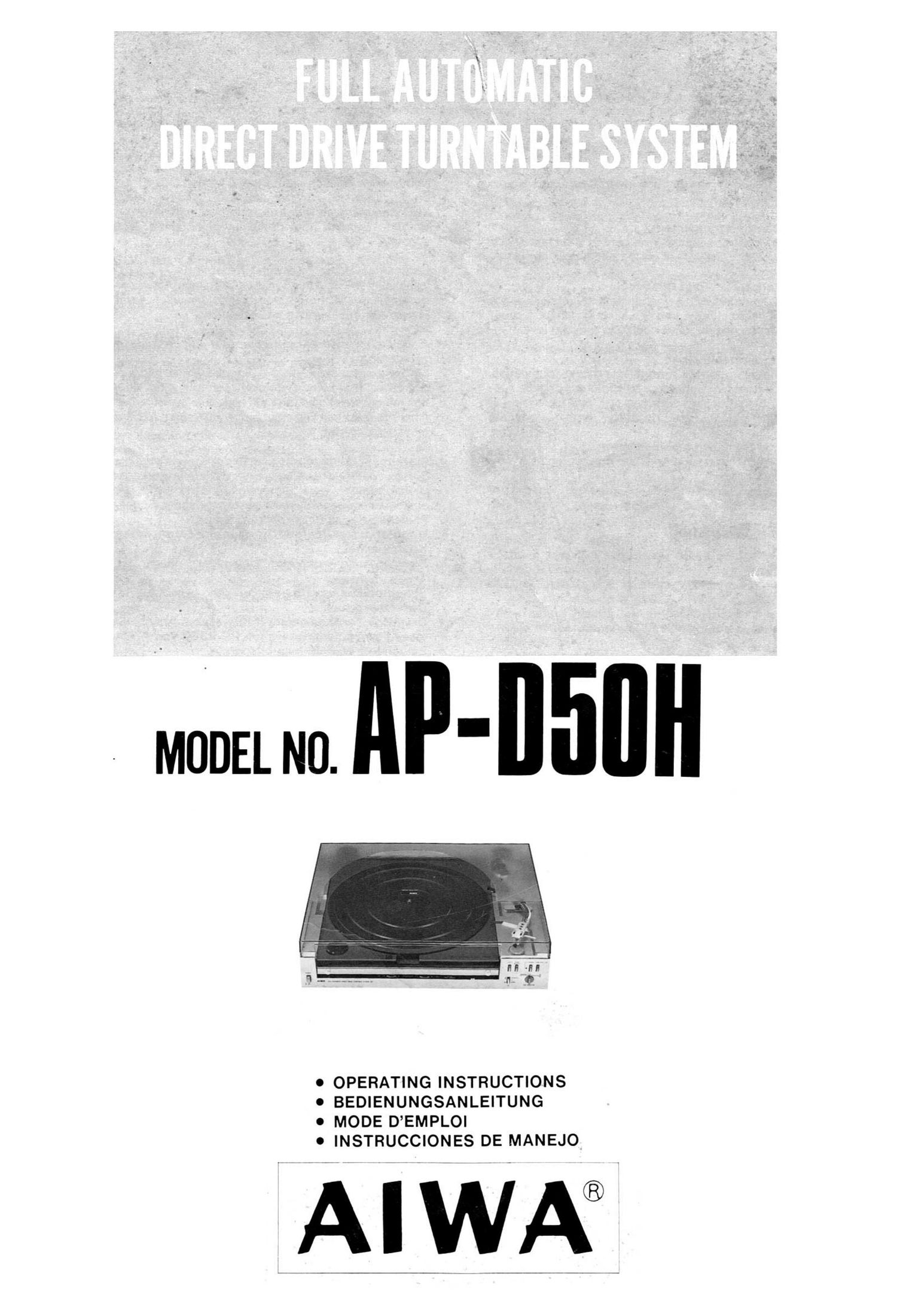 Aiwa AP D50H Owners Manual