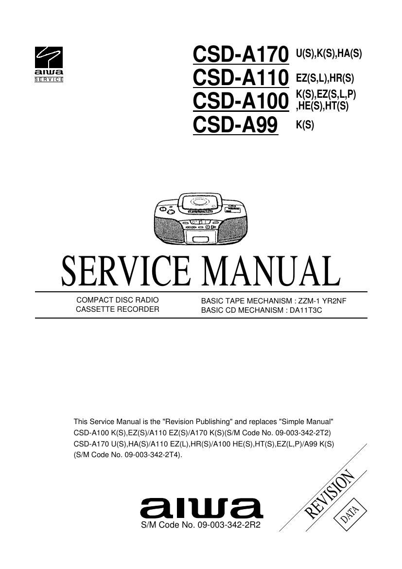 Aiwa CS DA110 Service Manual
